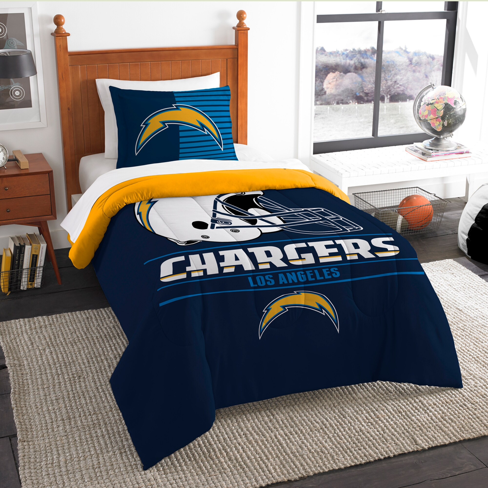 Los Angeles Chargers The Northwest Company NFL Draft Twin Comforter Set