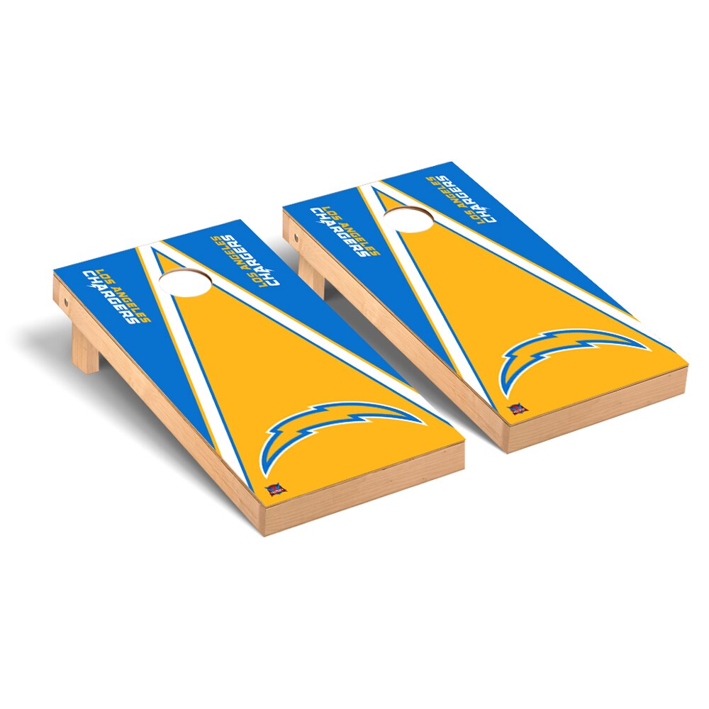 Los Angeles Chargers 2' x 4' Triangle Cornhole Board Tailgate Toss Set