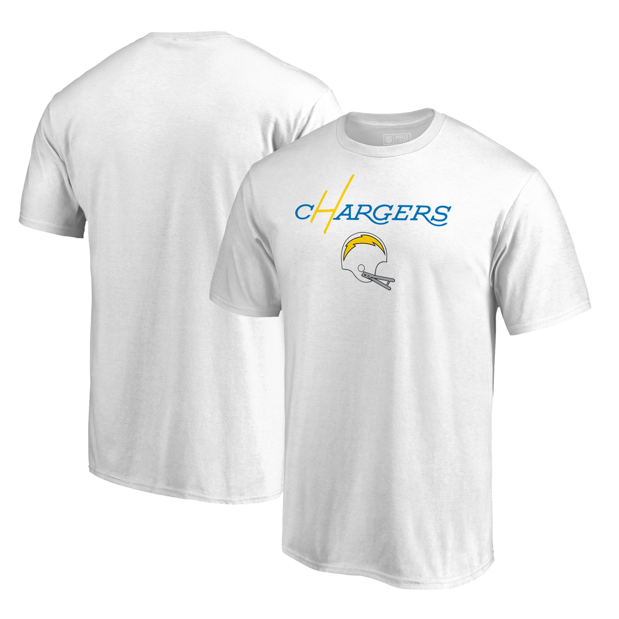Los Angeles Chargers NFL Pro Line by Fanatics Branded Vintage Team Lockup Big & Tall T-Shirt - White
