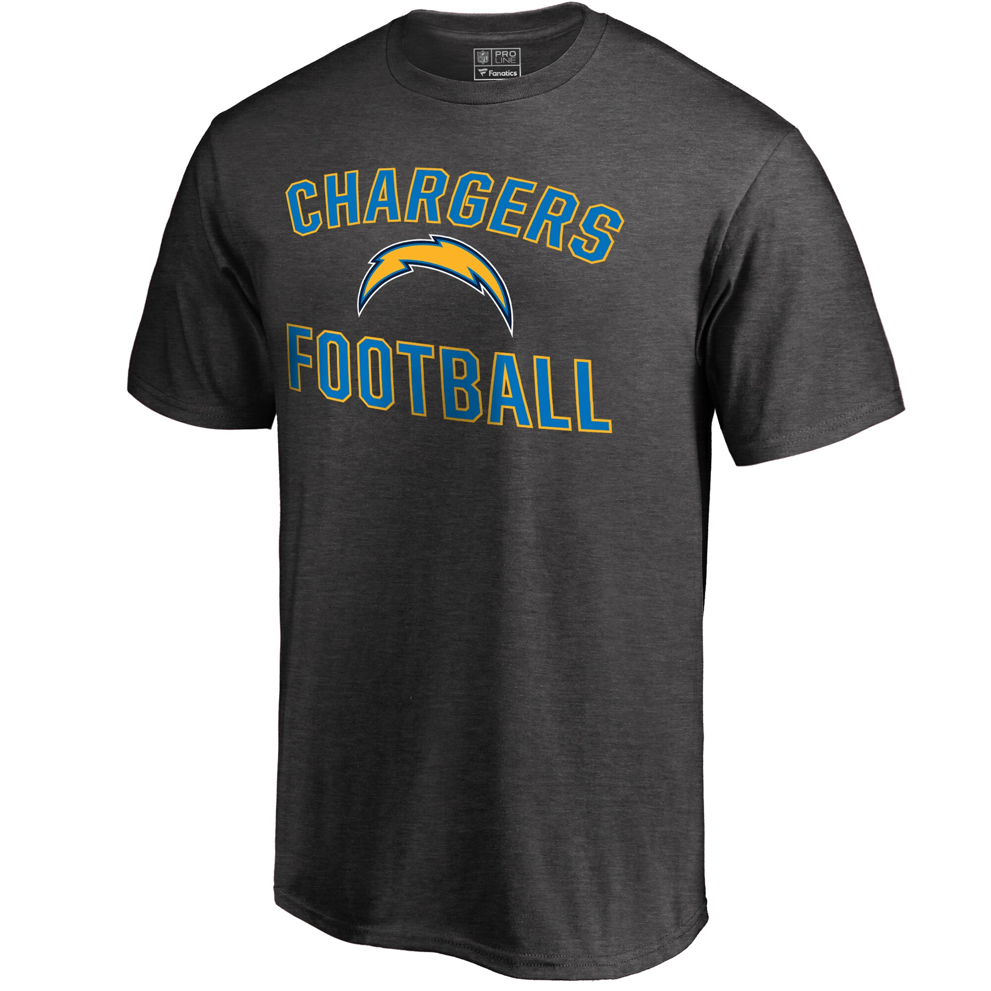 Los Angeles Chargers NFL Pro Line by Fanatics Branded Victory Arch T-Shirt - Gray