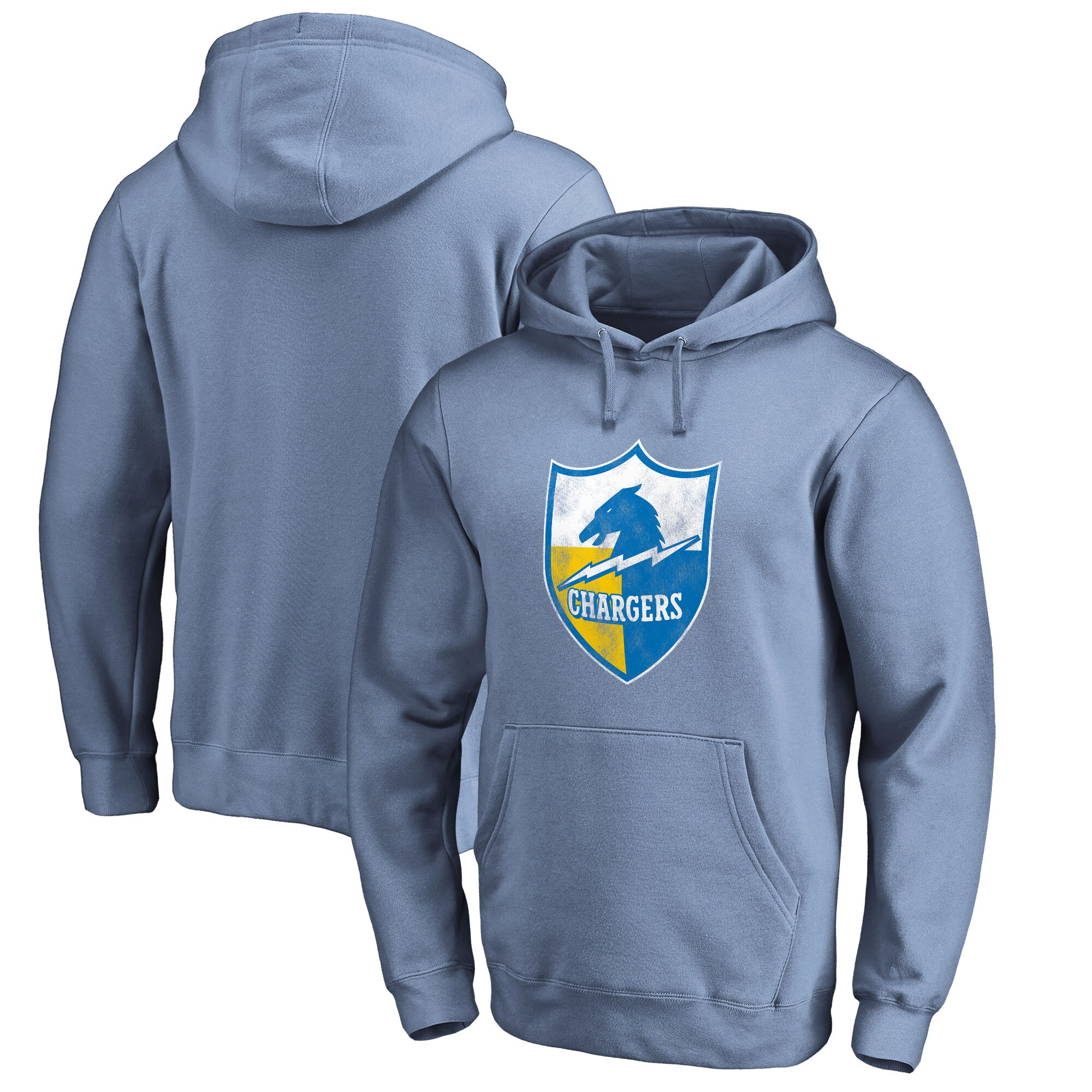 Los Angeles Chargers NFL Pro Line by Fanatics Branded Throwback Pullover Hoodie - Powder Blue
