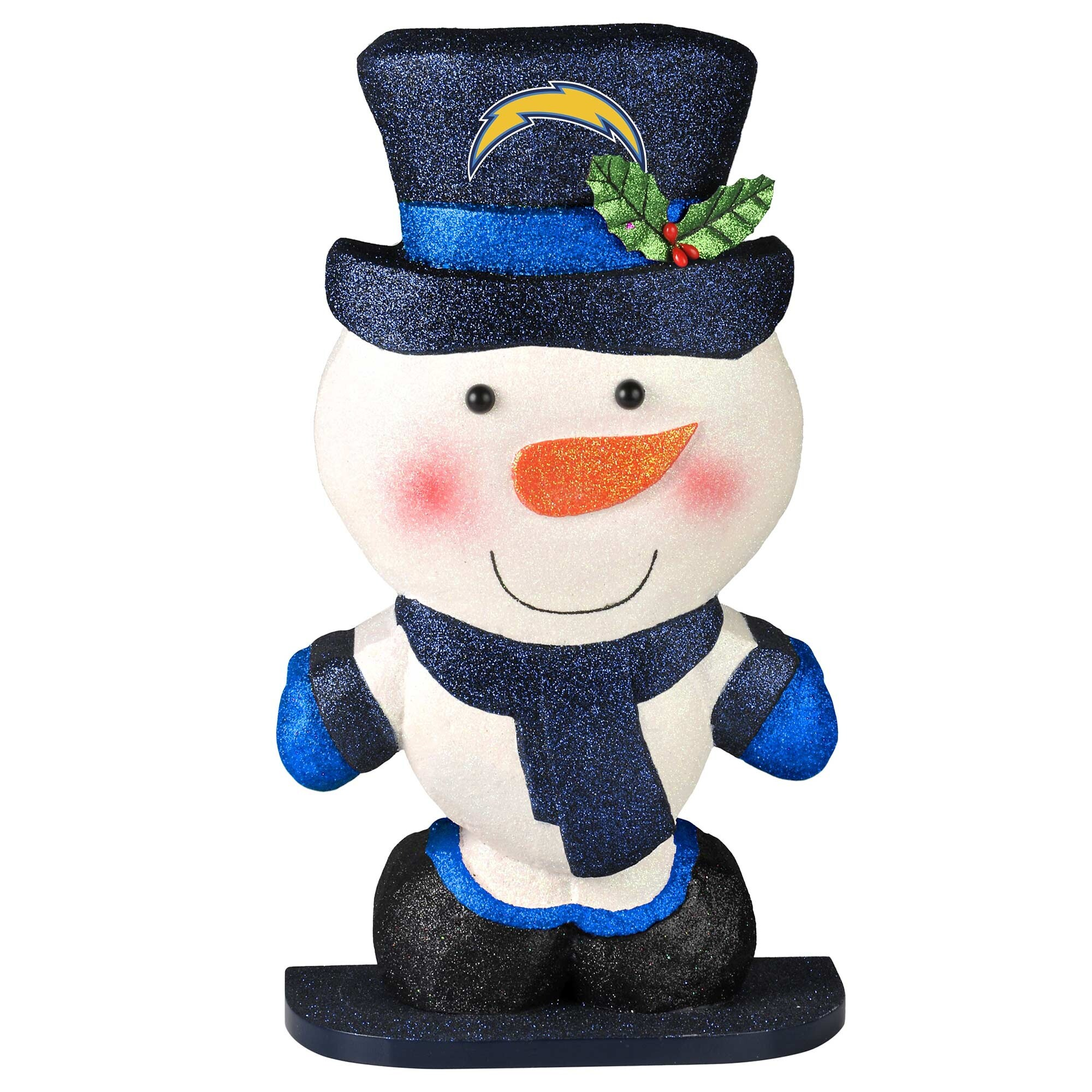 Los Angeles Chargers Polystyrene Snowman Figurine