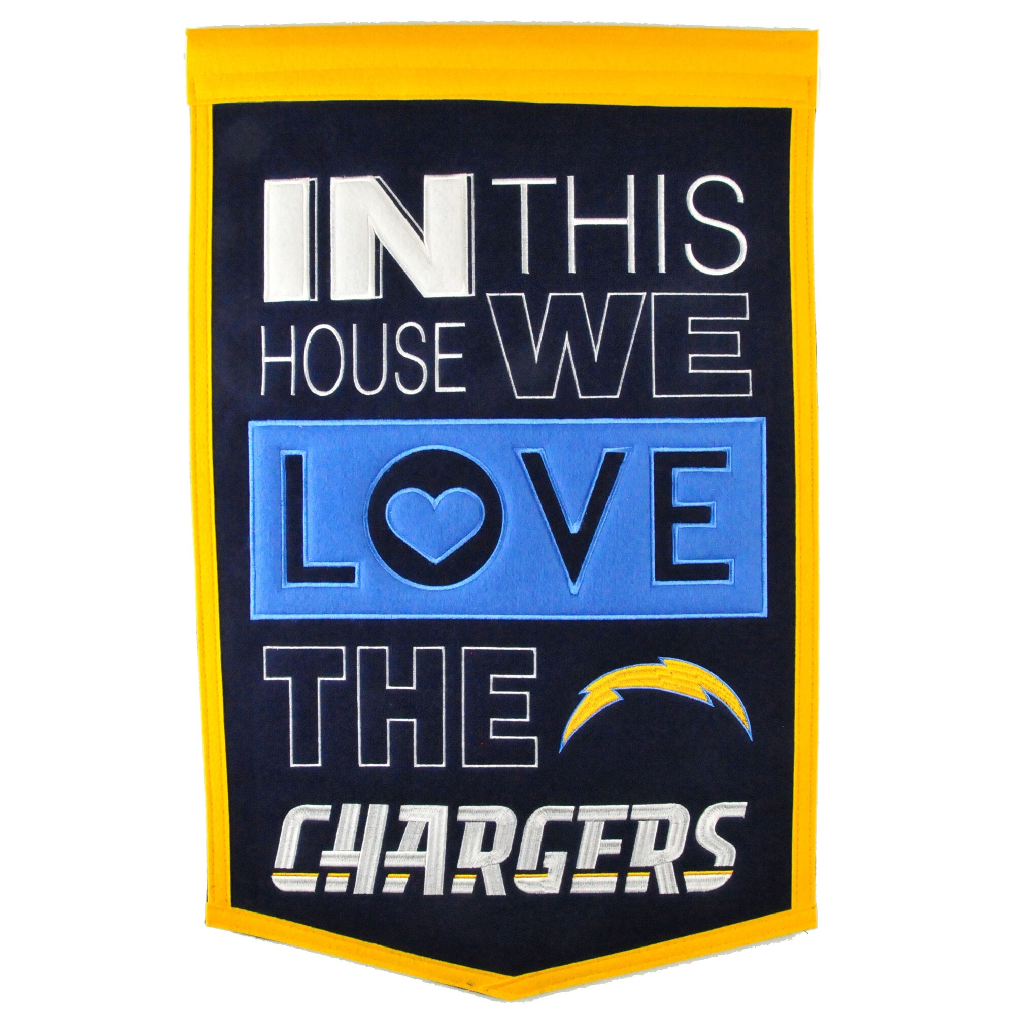 Los Angeles Chargers 15'' x 24'' Home Banner