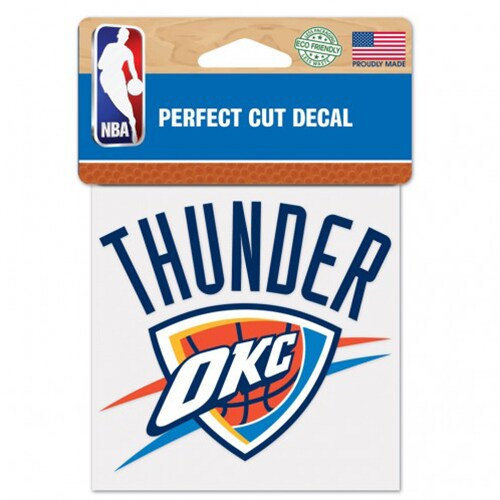 "Oklahoma City Thunder WinCraft 4"" x 4"" Color Perfect Cut Decal -"