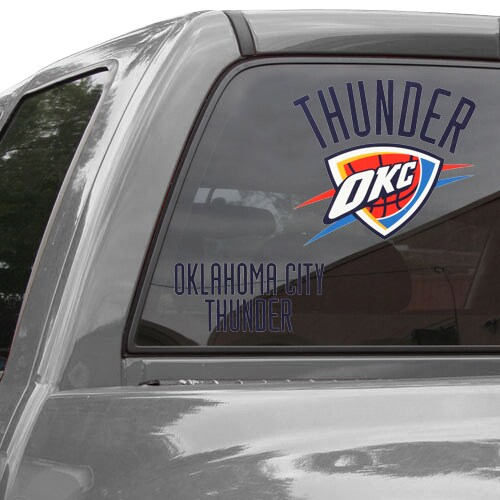 "Oklahoma City Thunder Wincraft 11"" x 17"" Reusable Window Clings 2 Pack"
