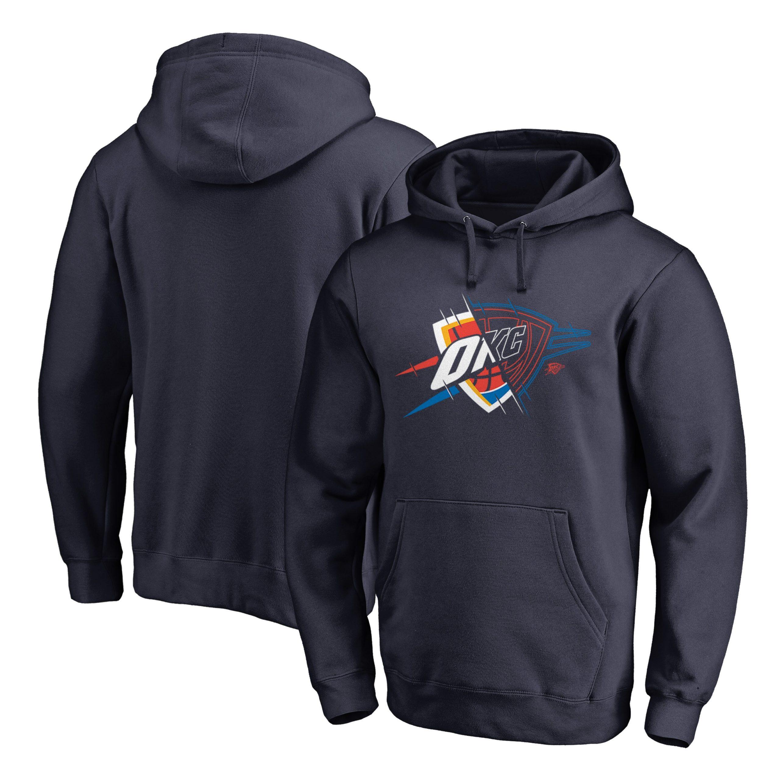 Oklahoma City Thunder Fanatics Branded X-Ray Pullover Hoodie - Navy