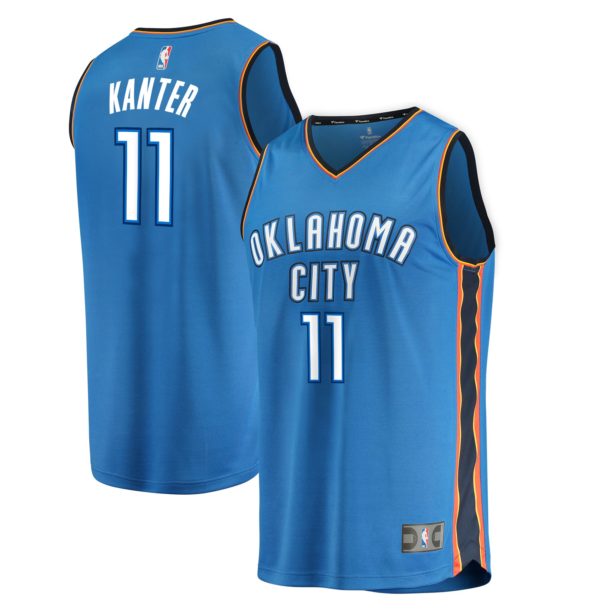 Enes Kanter Oklahoma City Thunder Fanatics Branded Fast Break Replica Jersey Blue - Icon Edition