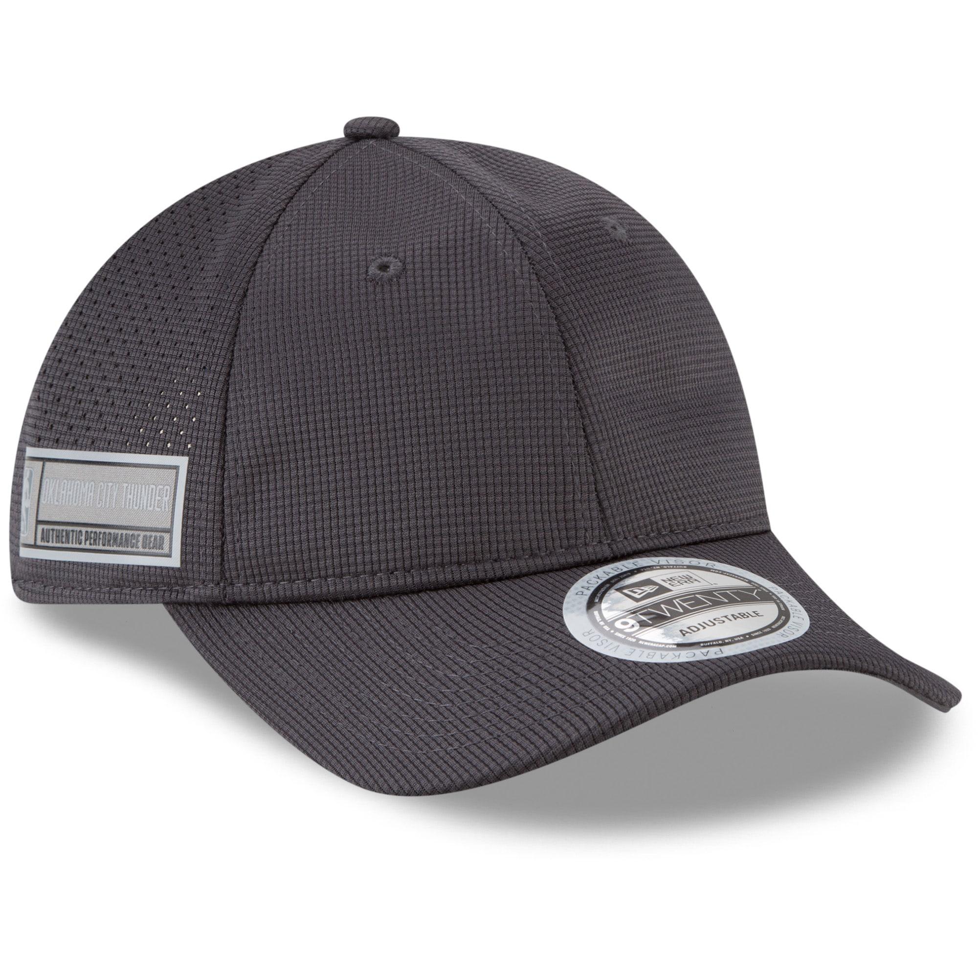 Oklahoma City Thunder New Era Authentics Training 9TWENTY Adjustable Hat - Graphite