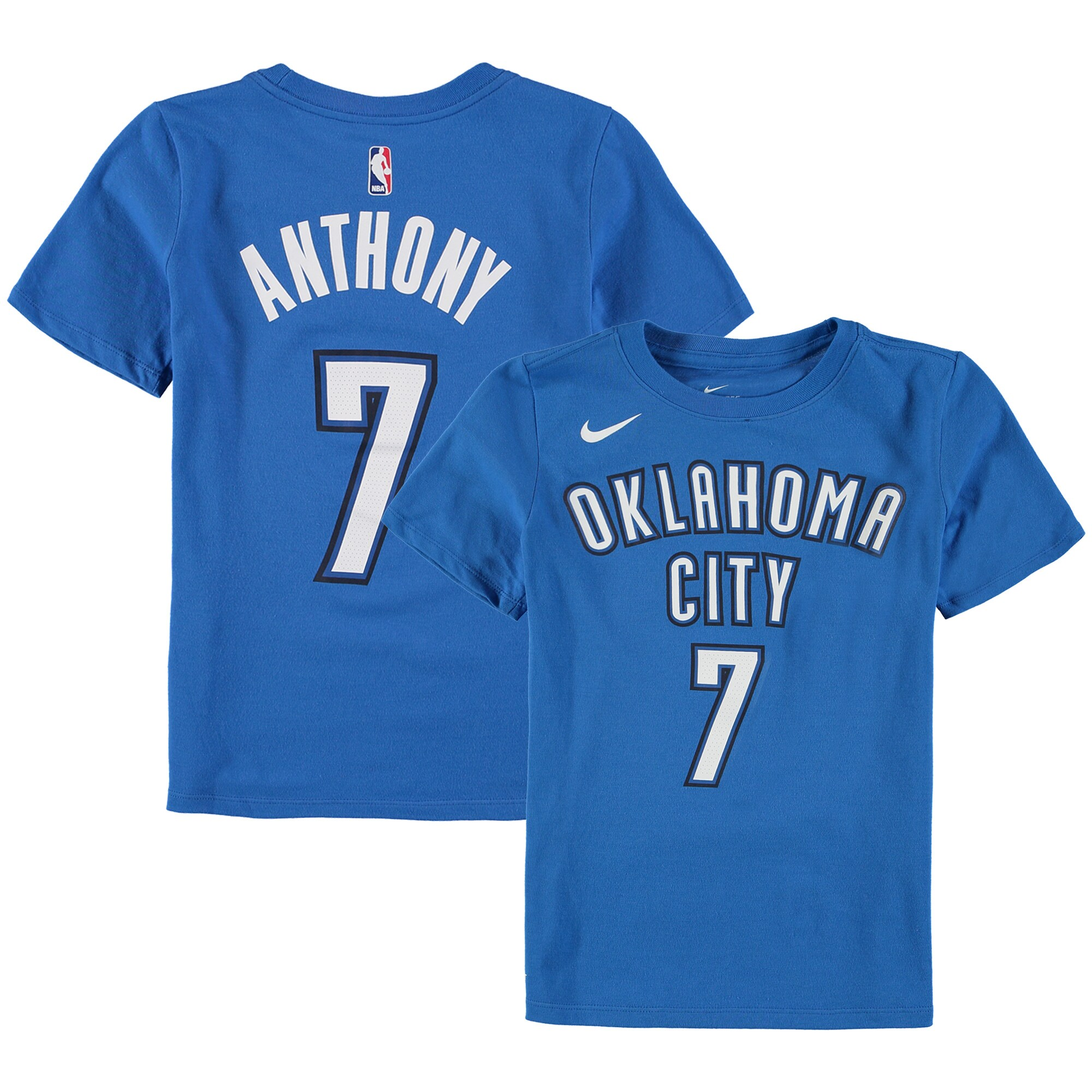 Carmelo Anthony Oklahoma City Thunder Nike Youth Name & Number Performance T-Shirt - Blue