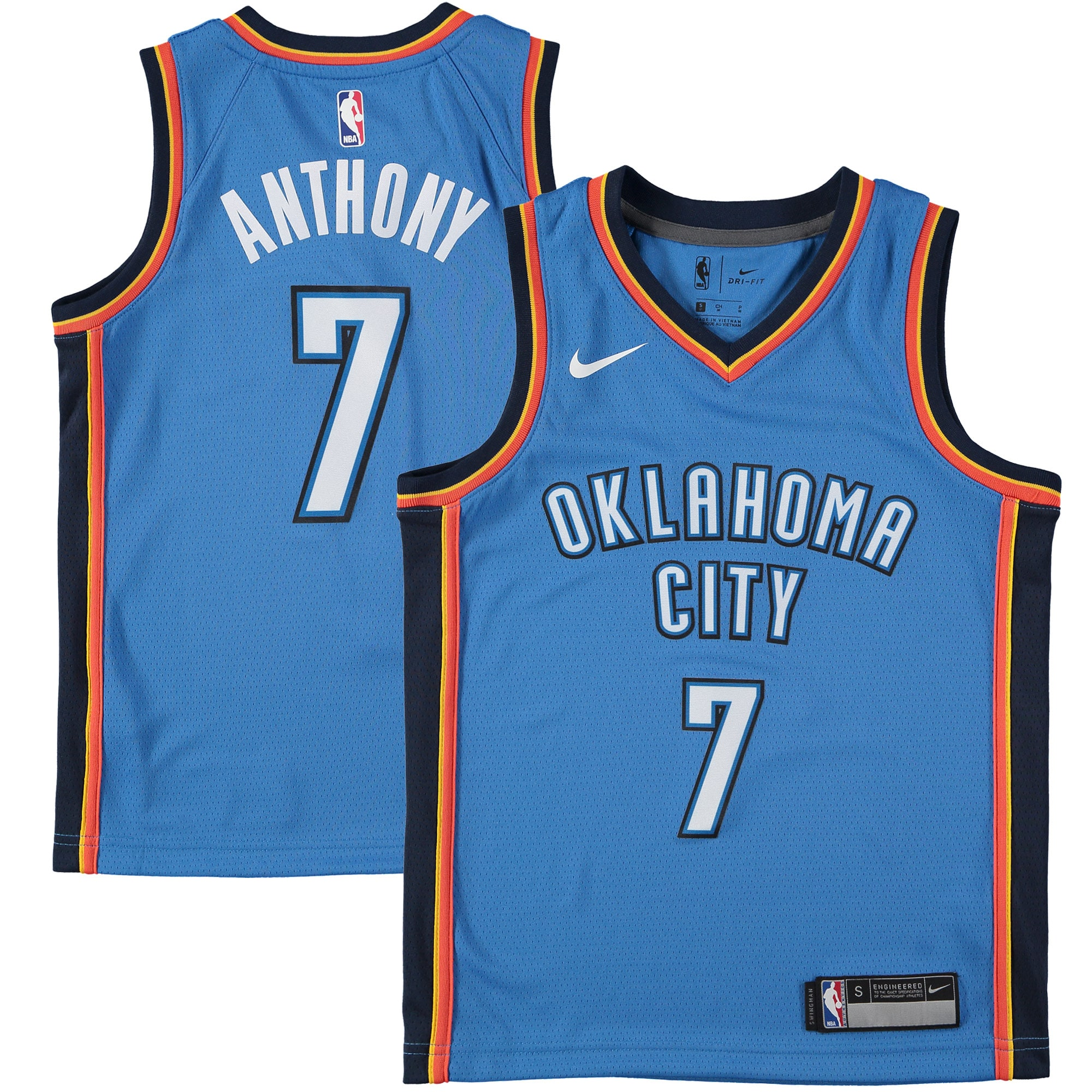Carmelo Anthony Oklahoma City Thunder Nike Youth Swingman Jersey Blue - Icon Edition