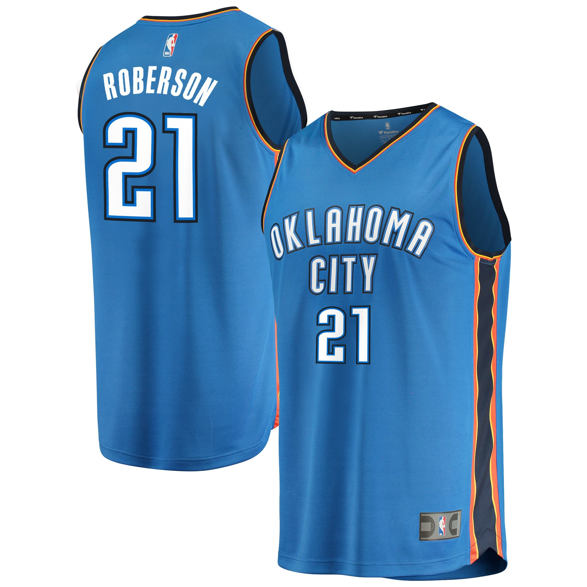 Andre Roberson Oklahoma City Thunder Fanatics Branded Fast Break Team Player Jersey Blue - Icon Edition