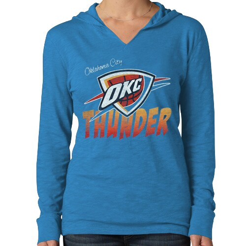 Oklahoma City Thunder '47 Brand Women's Primetime Hoodie - Light Blue