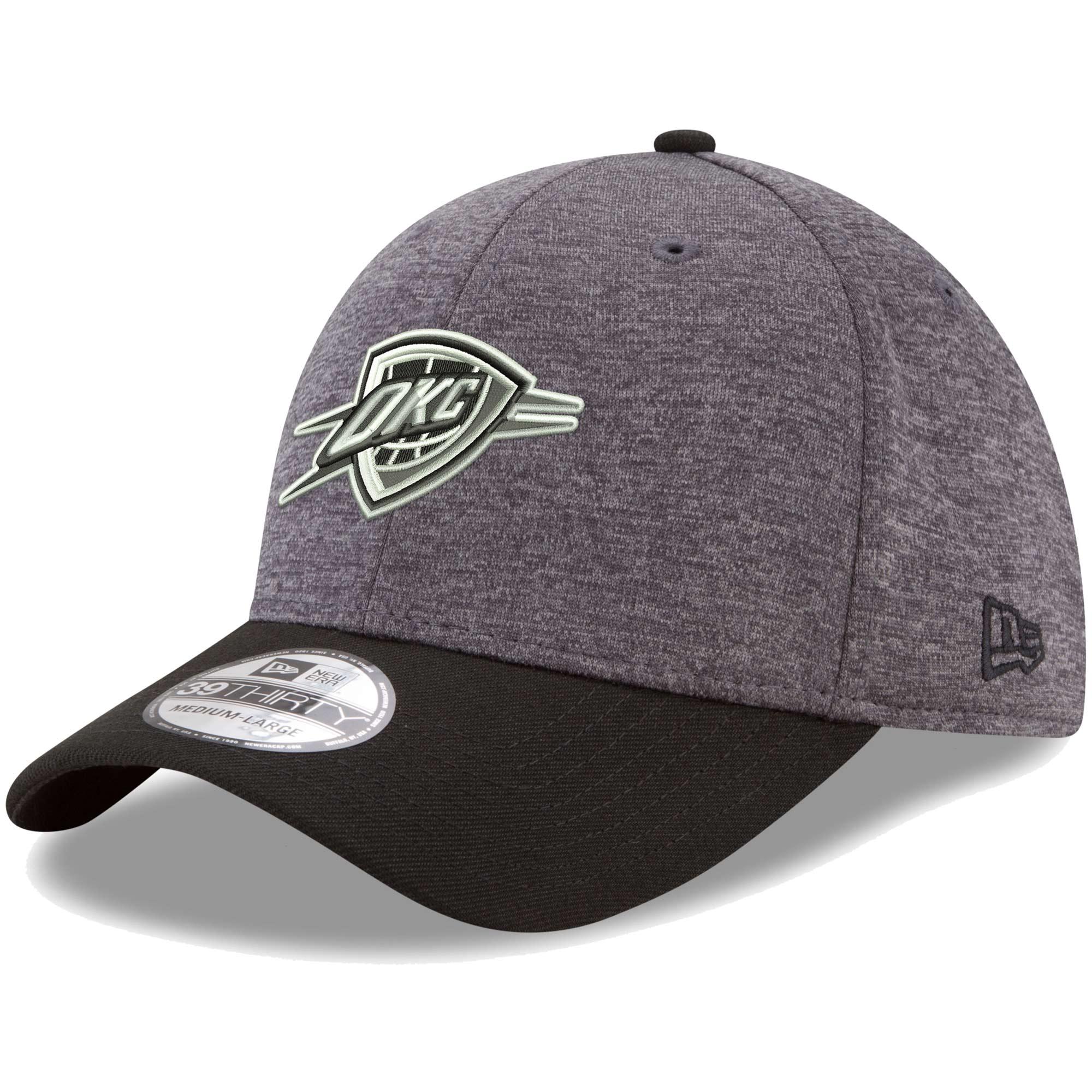 Oklahoma City Thunder New Era 39THIRTY Flex Hat - Heathered Gray/Black
