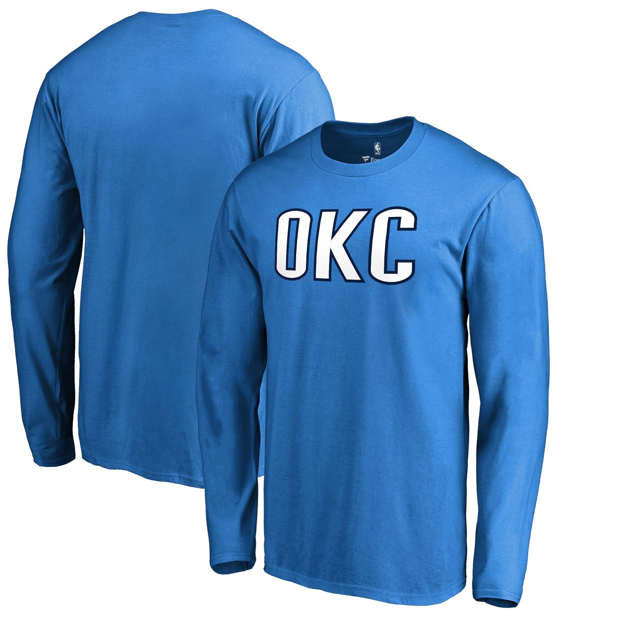 Oklahoma City Thunder Fanatics Branded Alternate Logo Long Sleeve T-Shirt - Blue