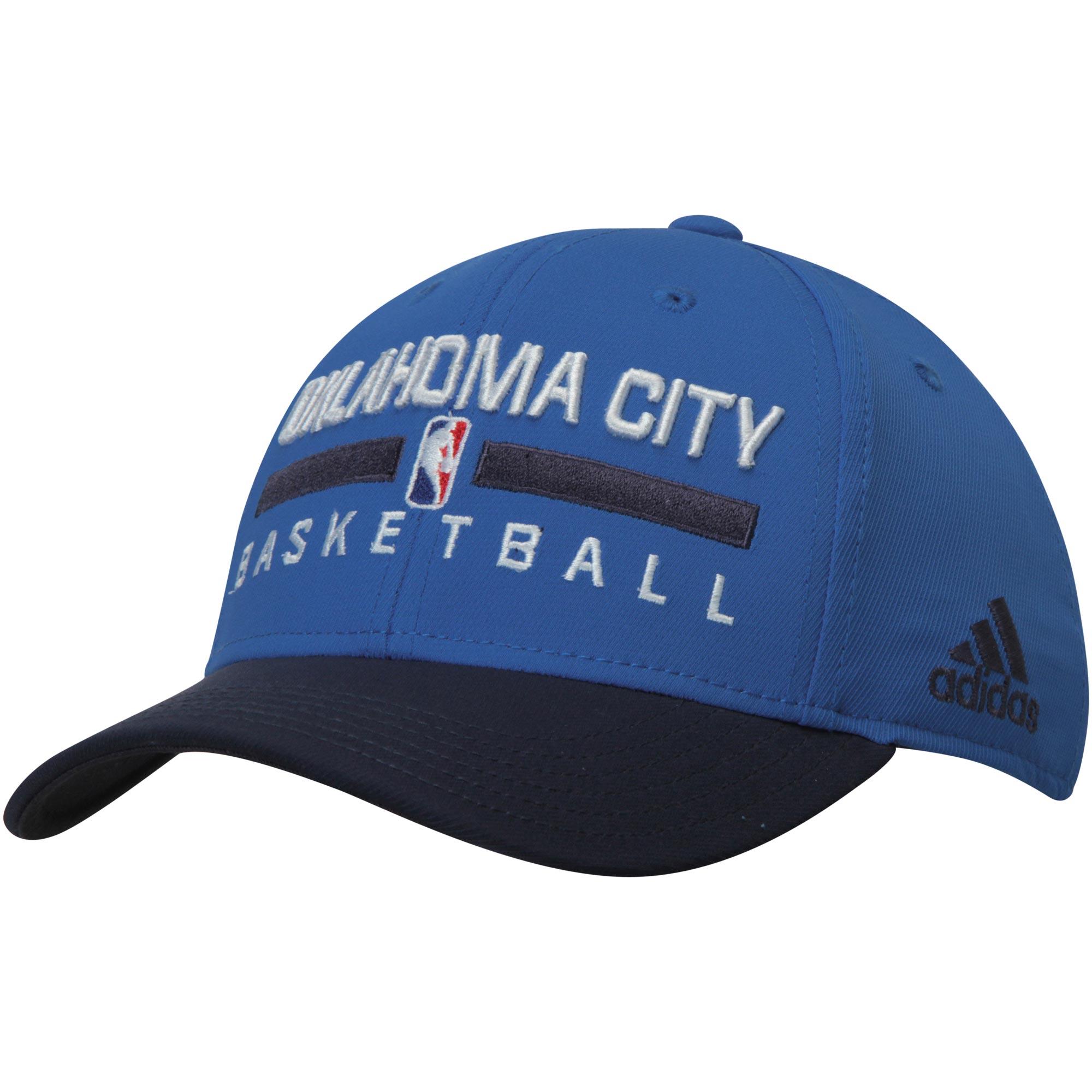 Oklahoma City Thunder adidas Youth Practice Adjustable Hat - Blue/Navy