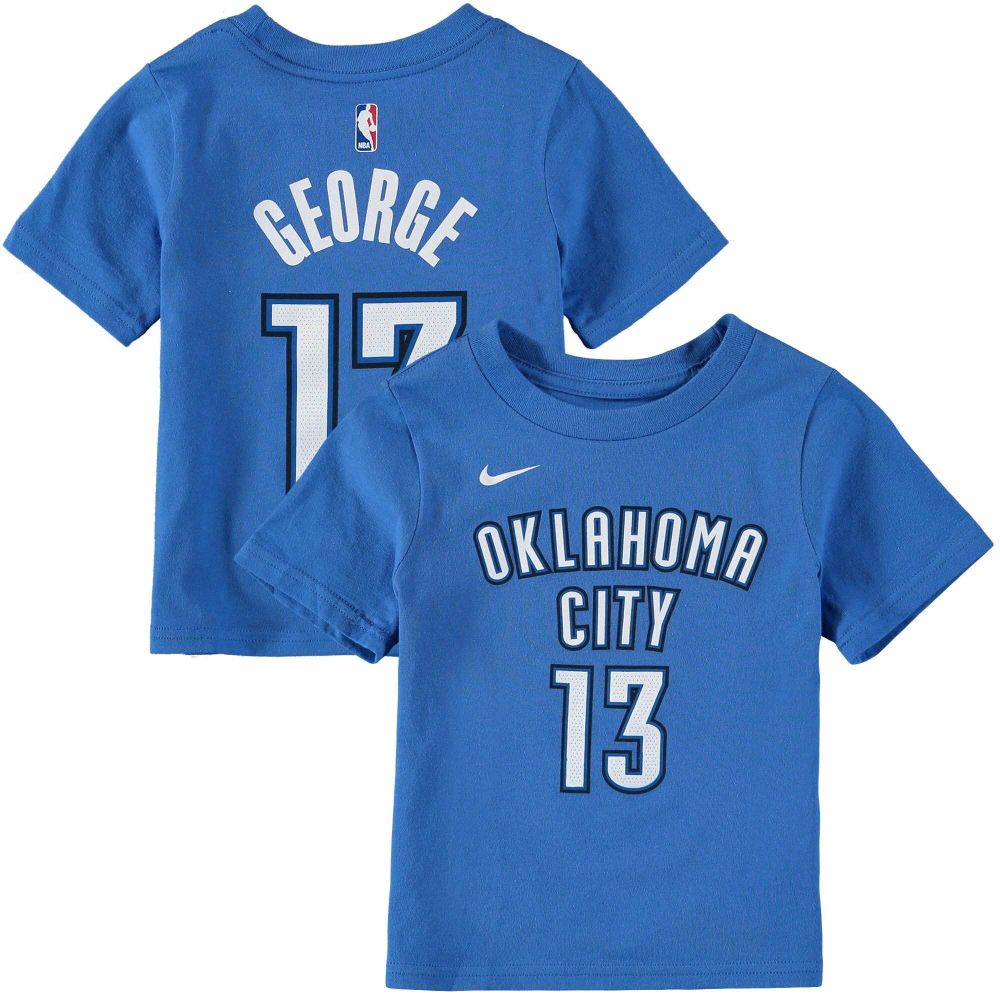 Paul George Oklahoma City Thunder Nike Toddler Name & Number T-Shirt - Blue