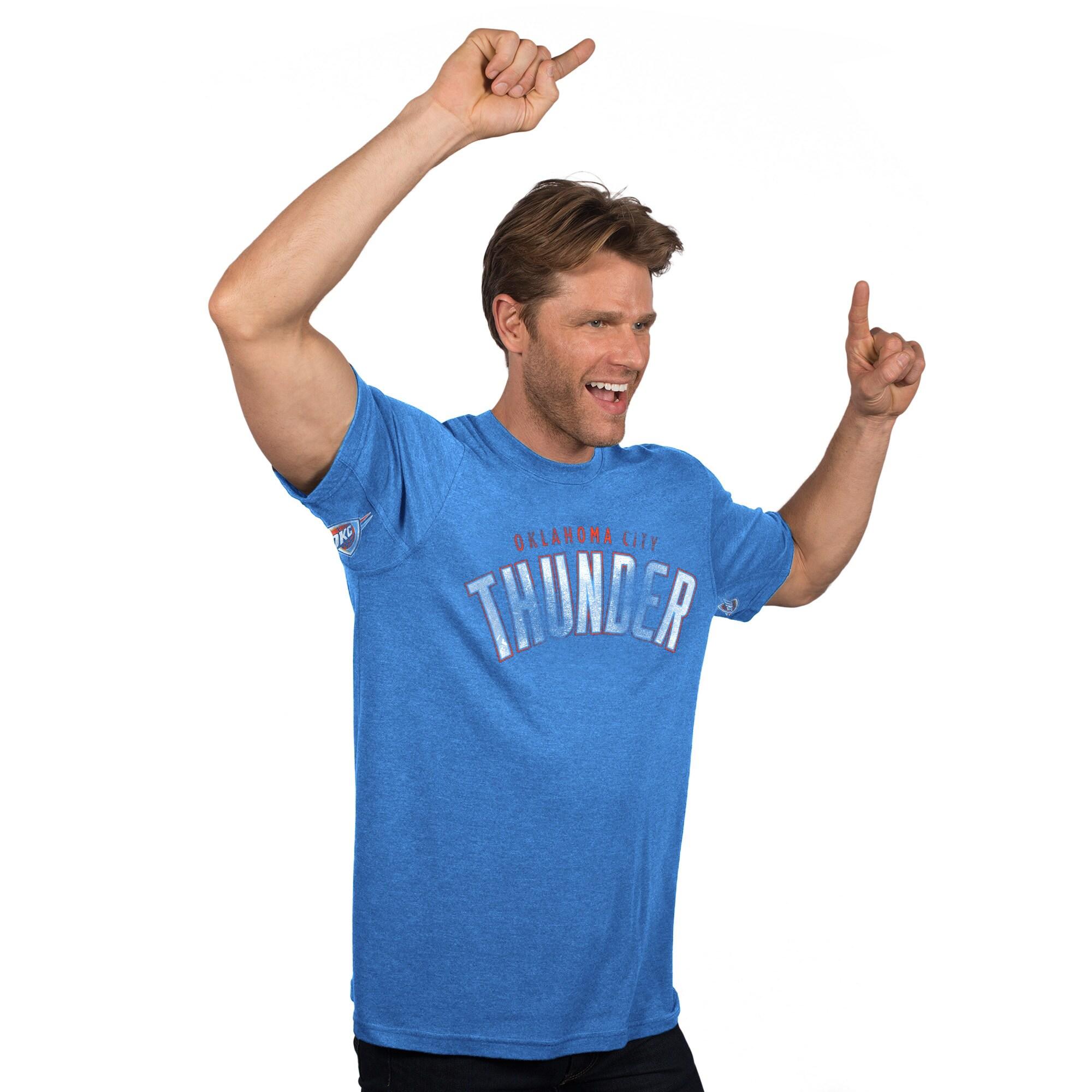 Oklahoma City Thunder Hands High Tri-Blend T-Shirt - Blue