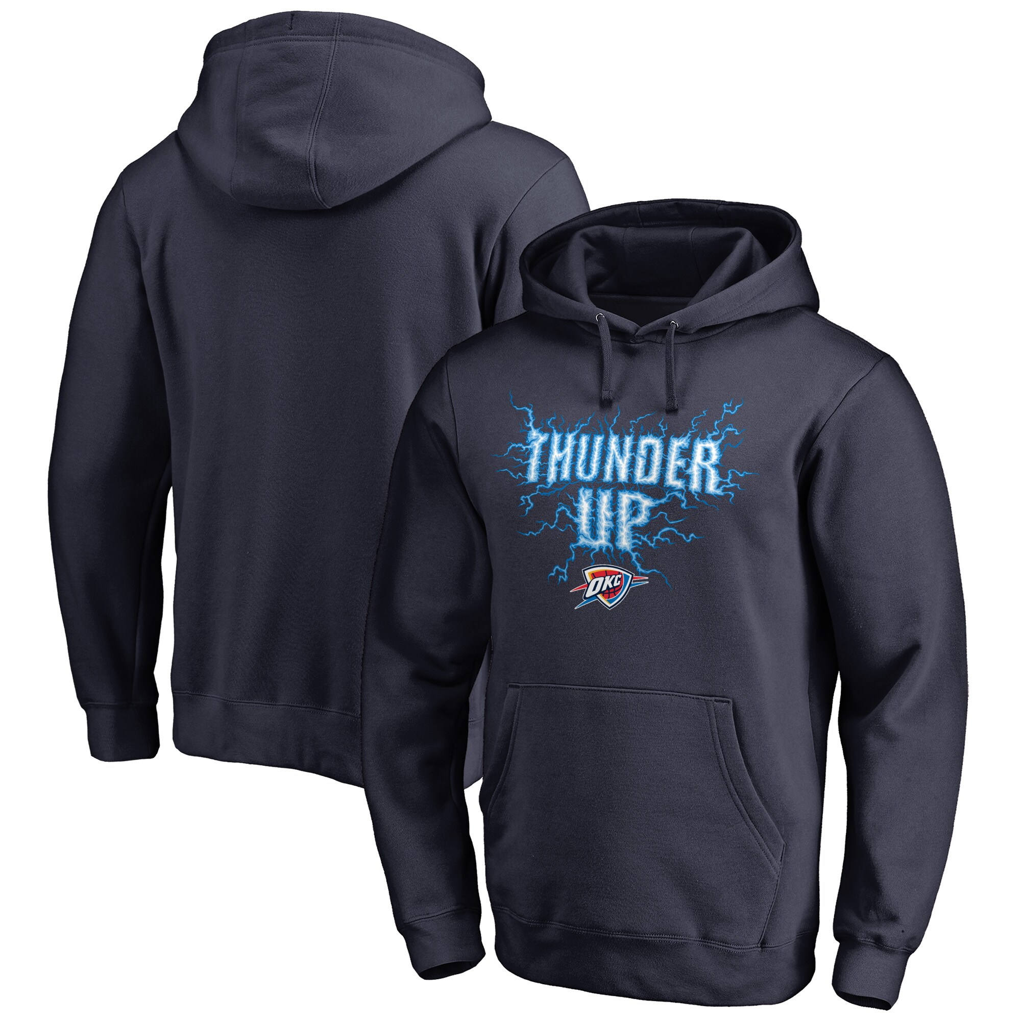 Oklahoma City Thunder Fanatics Branded Hometown Collection Thunder Up Pullover Hoodie - Navy