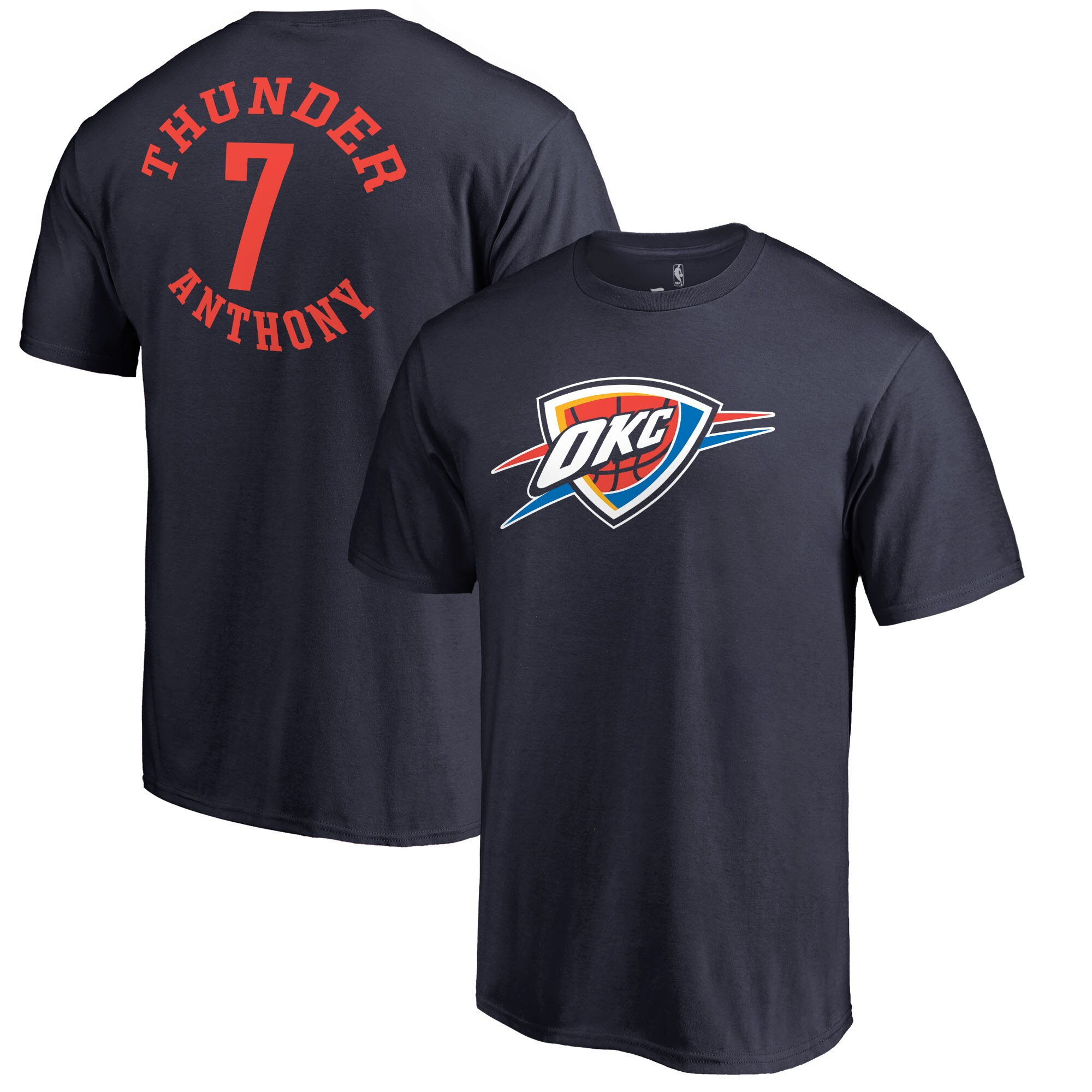 Carmelo Anthony Oklahoma City Thunder Fanatics Branded Round About Name & Number T-Shirt - Navy