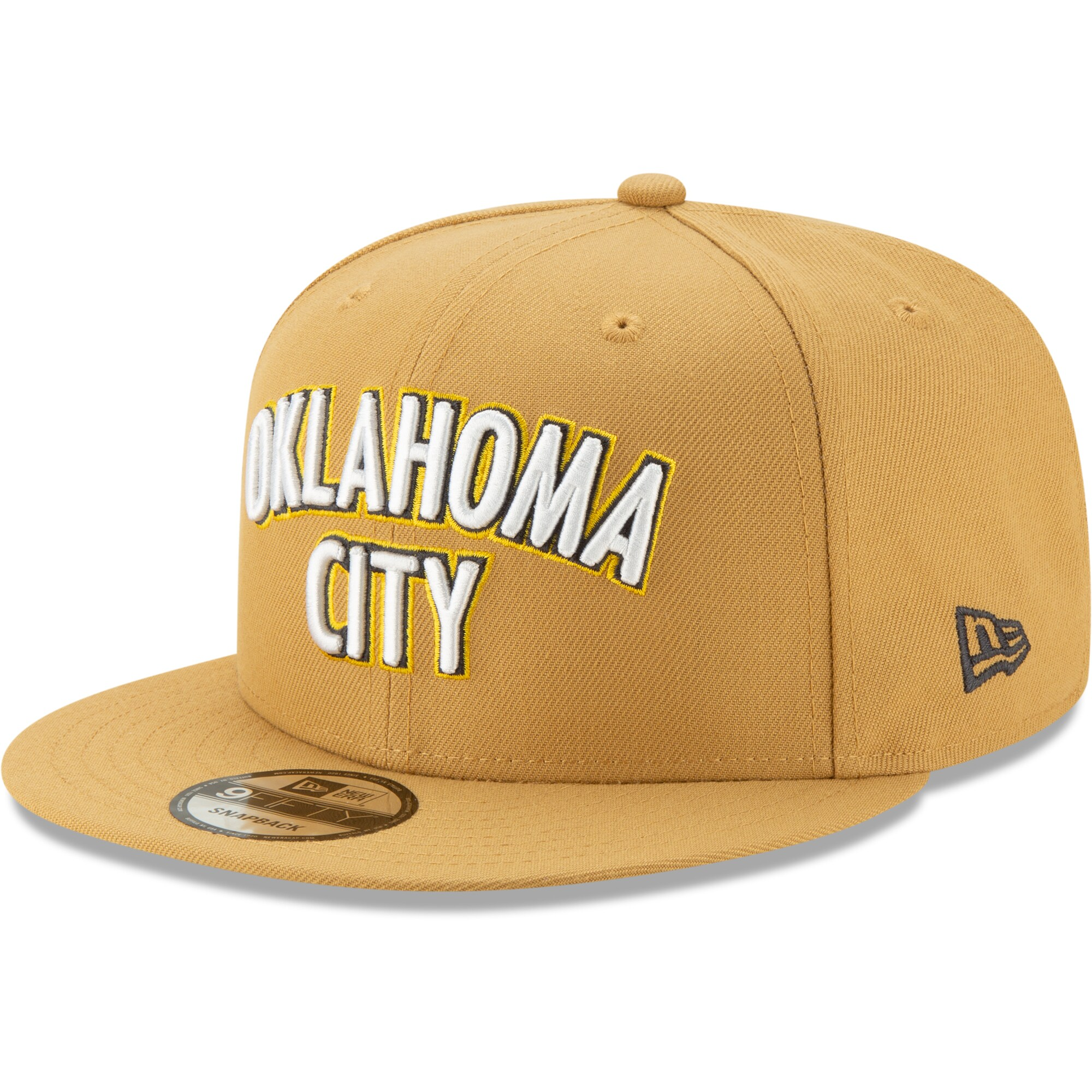 Oklahoma City Thunder New Era 2019/20 City Edition 9FIFTY Snapback Adjustable Hat - Gold