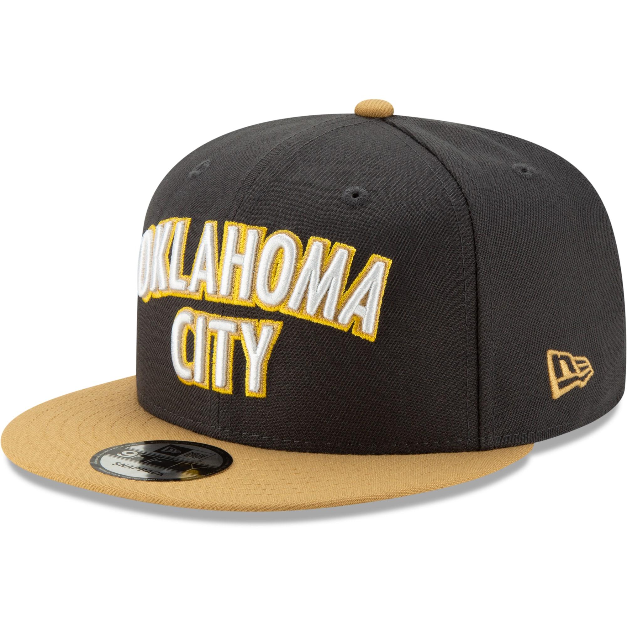 Oklahoma City Thunder New Era 2019/20 City Edition On Court 9FIFTY Snapback Adjustable Hat - Black/Gold