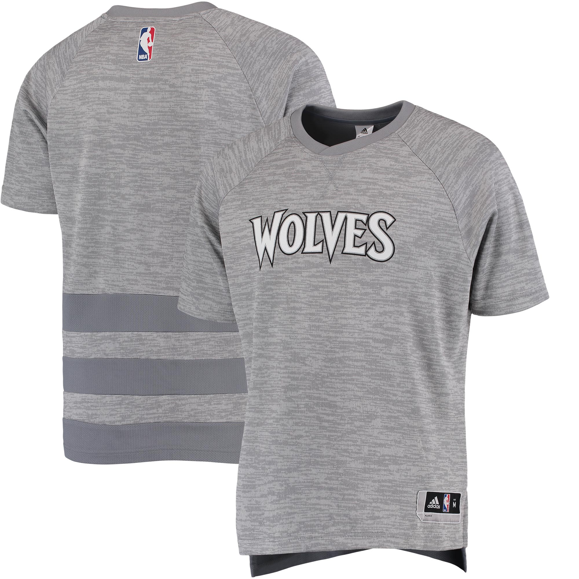 Minnesota Timberwolves adidas 2016 On-Court Shooter T-Shirt - Gray
