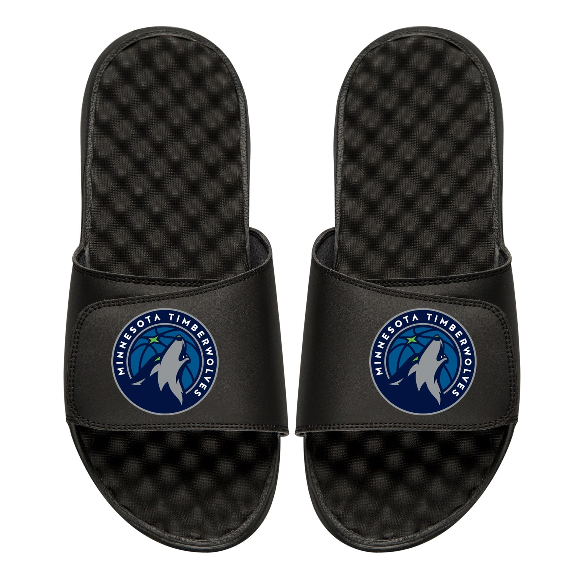 Minnesota Timberwolves Youth Primary iSlide Sandals - Black