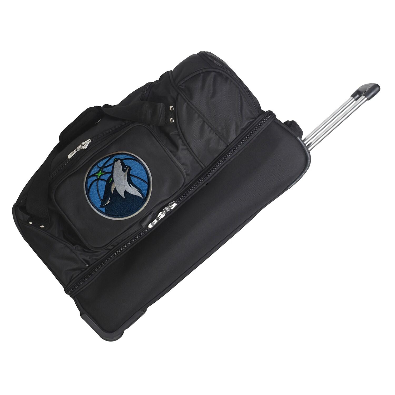 "Minnesota Timberwolves 27"" 2-Wheel Rolling Drop Bottom Duffel Bag - Black"