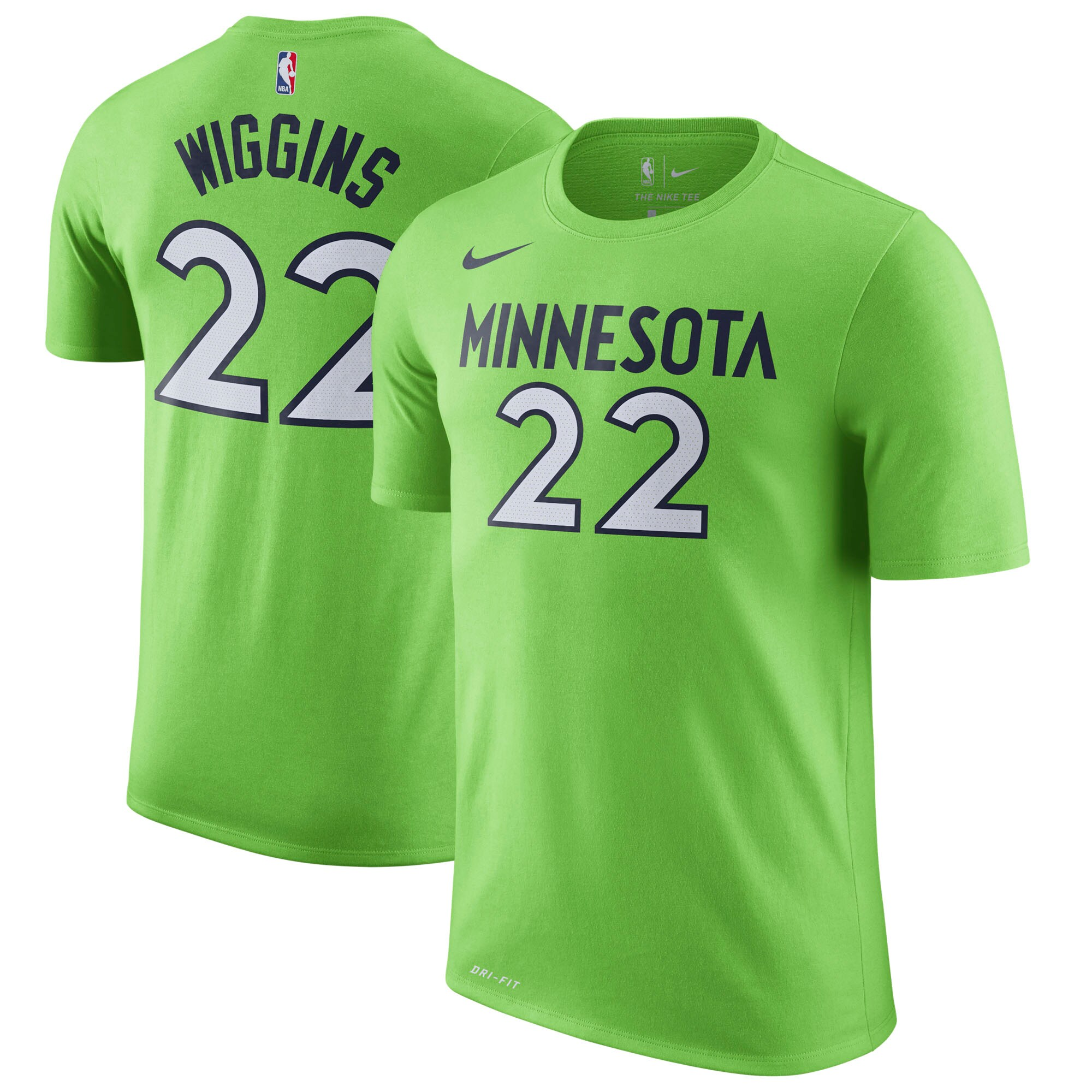 Andrew Wiggins Minnesota Timberwolves Nike Name & Number Statement Performance T-Shirt - Green