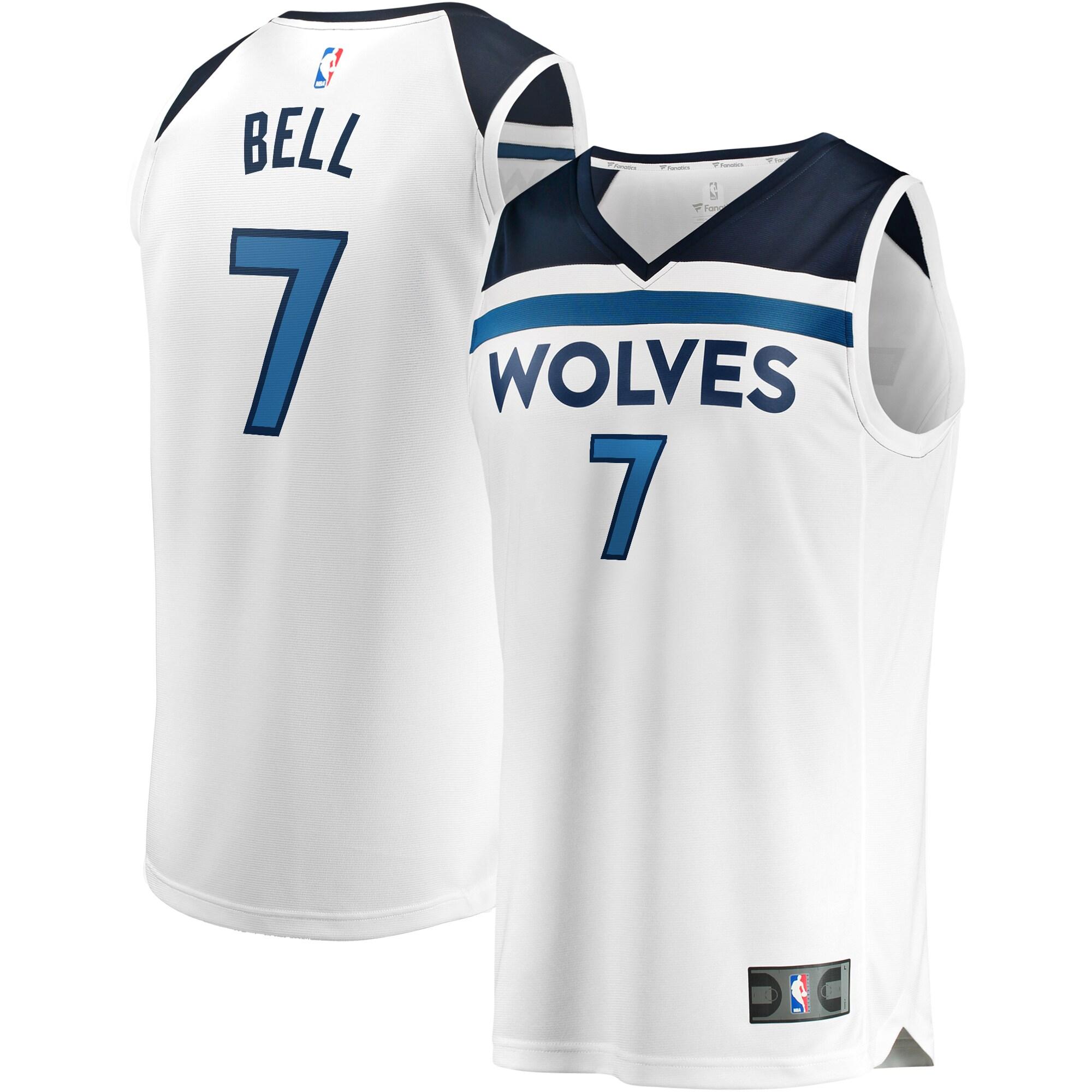 Jordan Bell Minnesota Timberwolves Fanatics Branded Fast Break Replica Player Jersey White - Association Edition