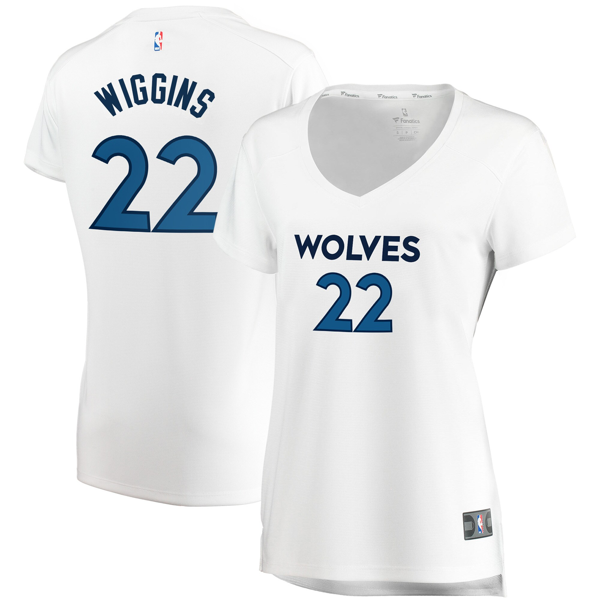 Andrew Wiggins Minnesota Timberwolves Fanatics Branded Women's Fast Break Replica Jersey White - Association Edition