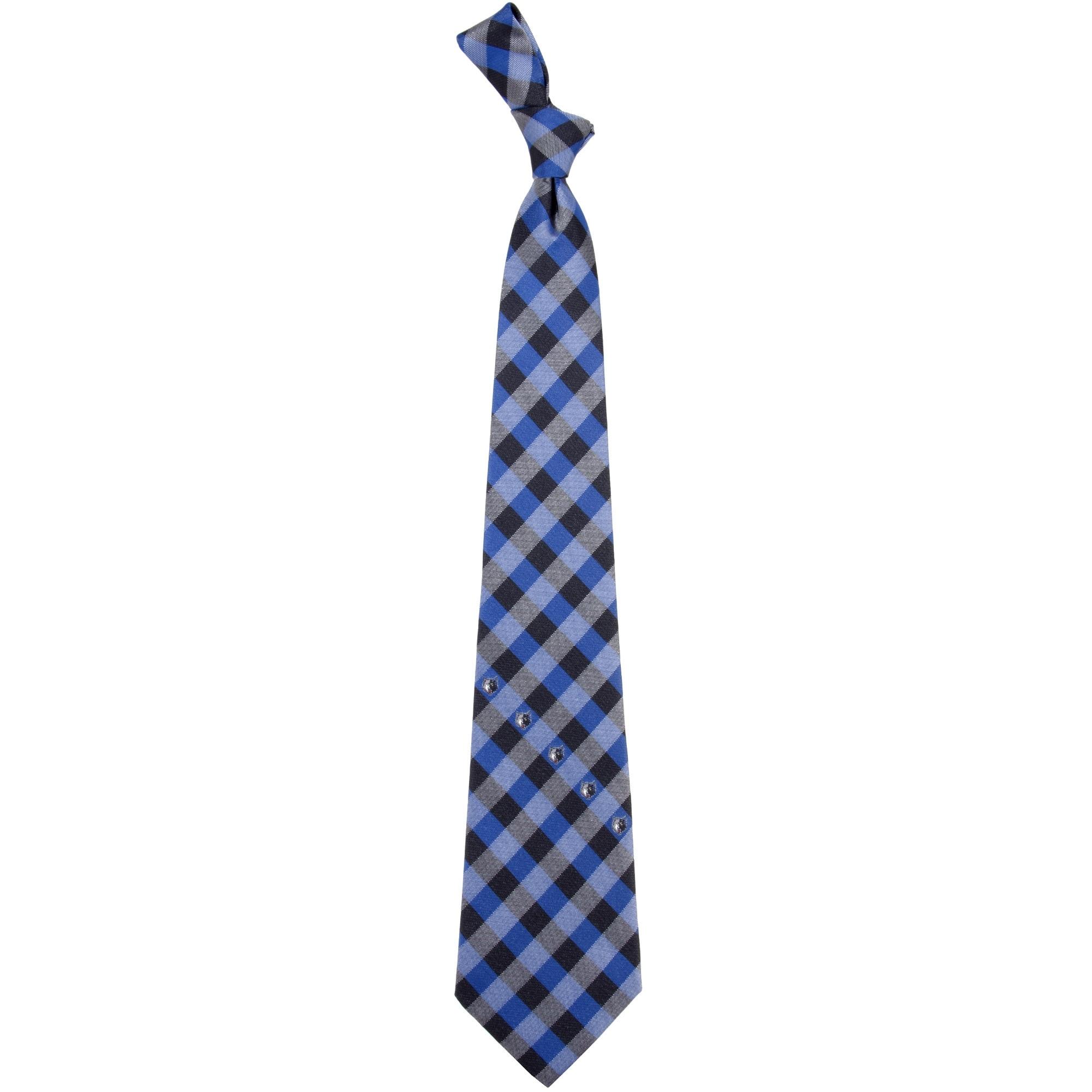 Minnesota Timberwolves Woven Checkered Tie - Royal Blue/Navy Blue