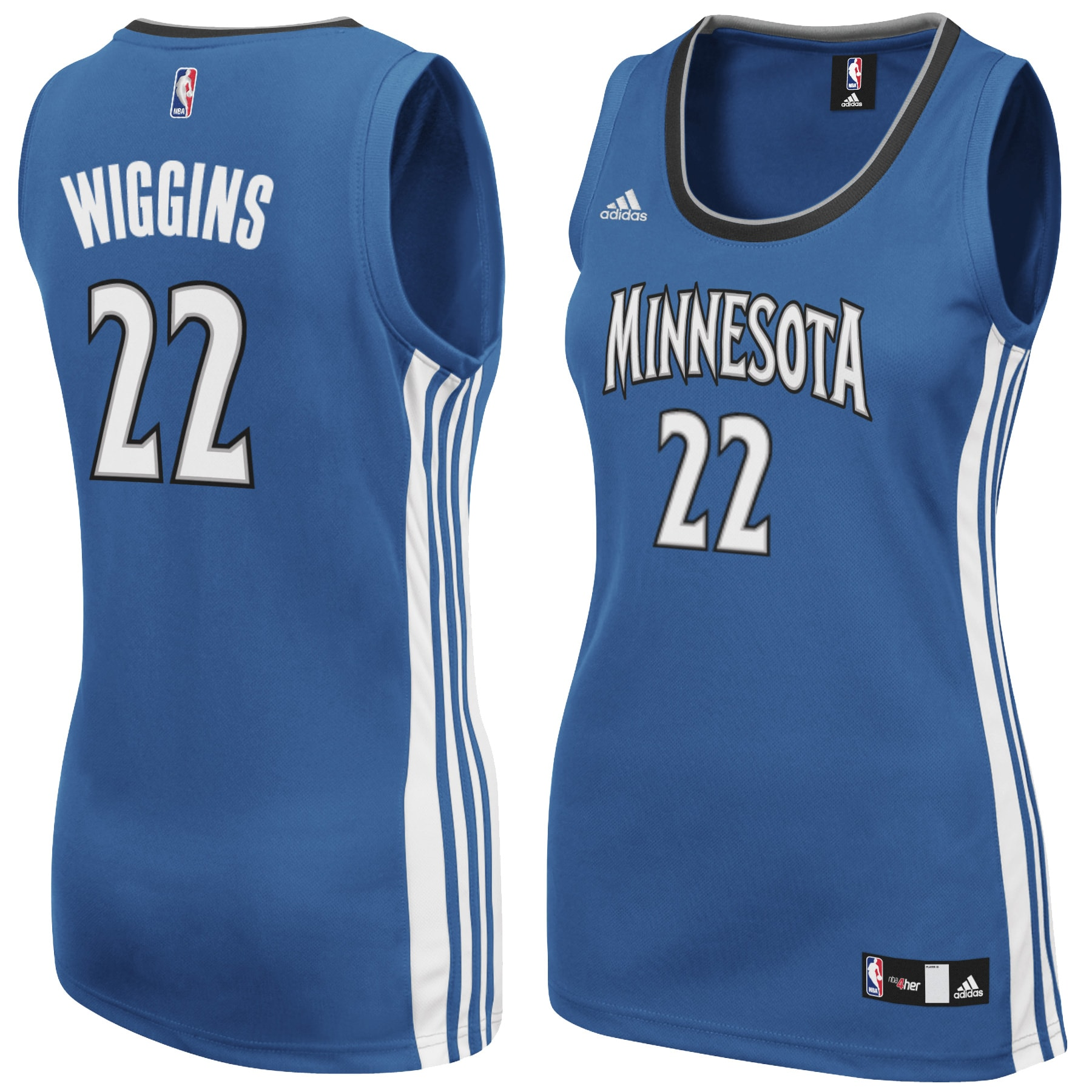 Andrew Wiggins Minnesota Timberwolves adidas Women's Replica Road Jersey - Light Blue