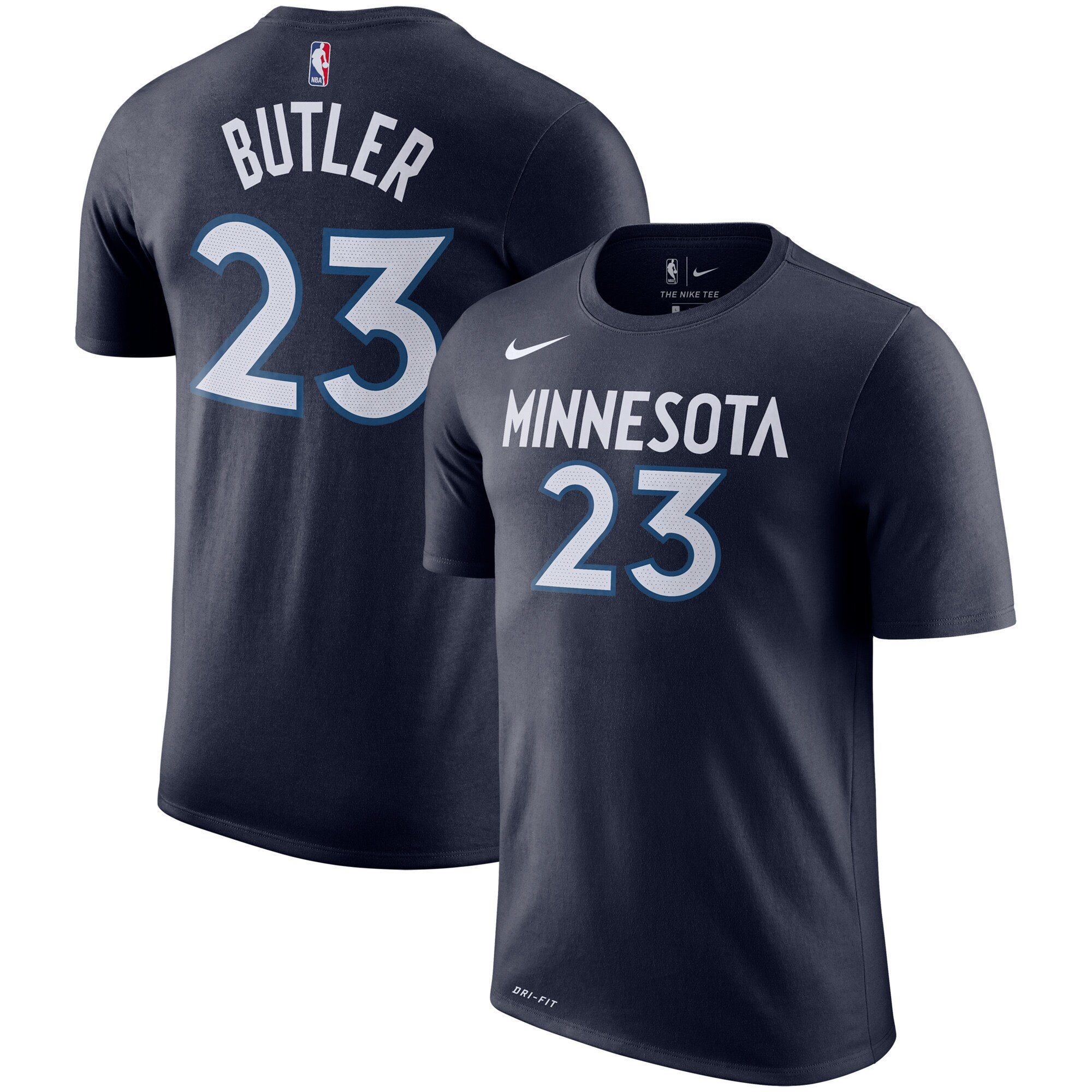 Jimmy Butler Minnesota Timberwolves Nike Name & Number Performance T-Shirt - Navy