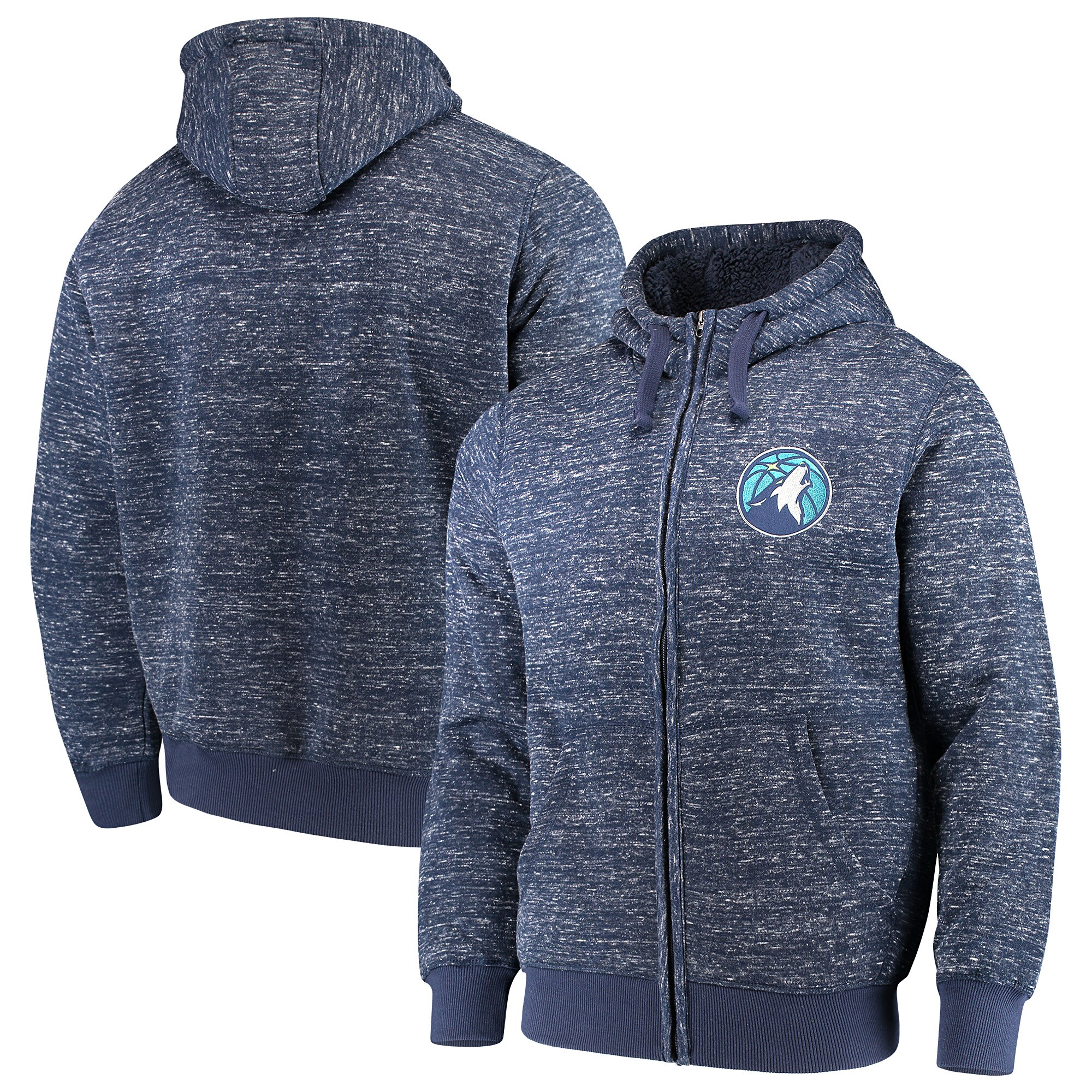 Minnesota Timberwolves G-III Sports by Carl Banks Discovery Transitional Full-Zip Jacket - Navy