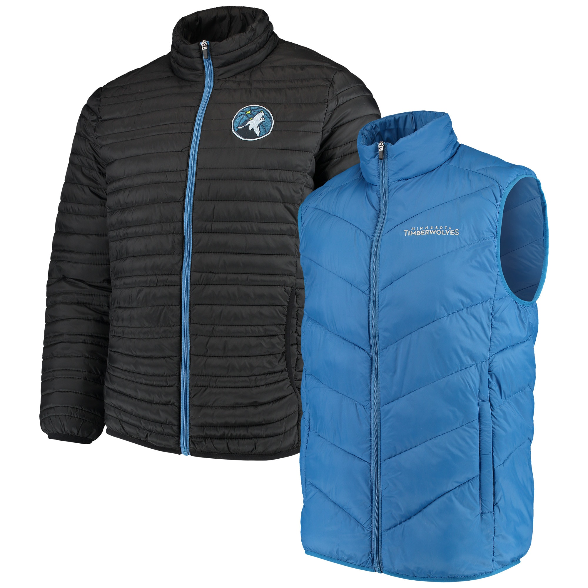 Minnesota Timberwolves G-III Sports by Carl Banks Three & Out 3-in-1 System Full-Zip Vest & Jacket Set - Blue/Navy