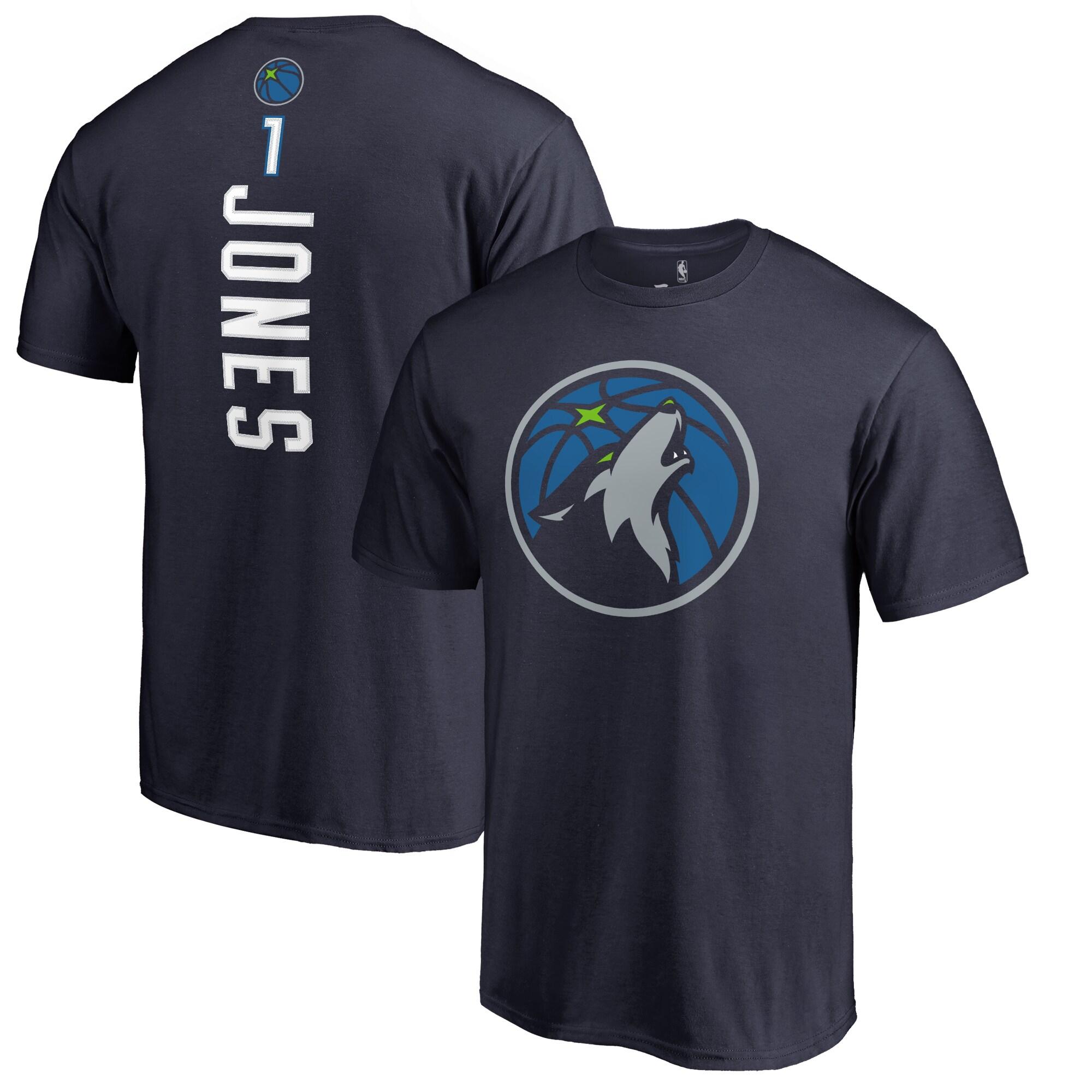 Tyus Jones Minnesota Timberwolves Fanatics Branded Backer T-Shirt - Navy