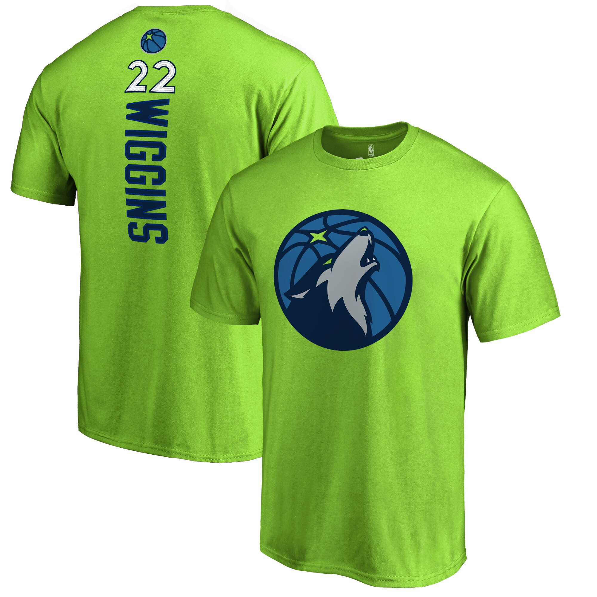 Andrew Wiggins Minnesota Timberwolves Fanatics Branded Backer Name & Number T-Shirt - Neon Green