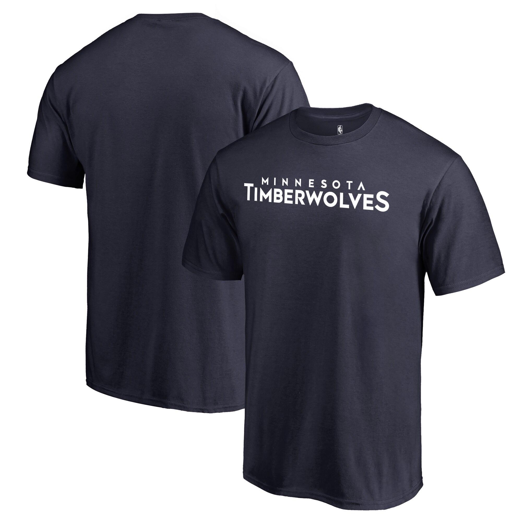 Minnesota Timberwolves Fanatics Branded Primary Wordmark T-Shirt - Navy