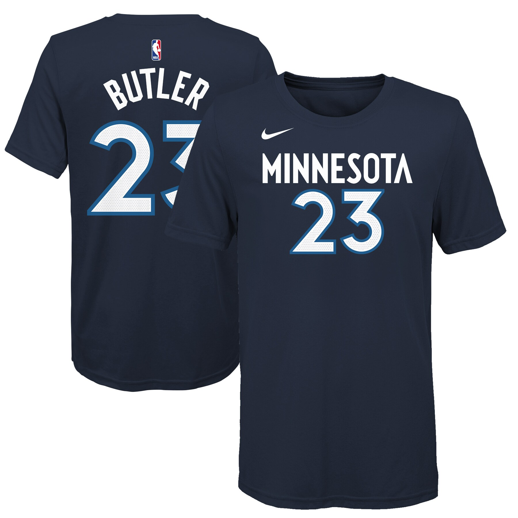 Jimmy Butler Minnesota Timberwolves Nike Youth Name & Number T-Shirt - Navy