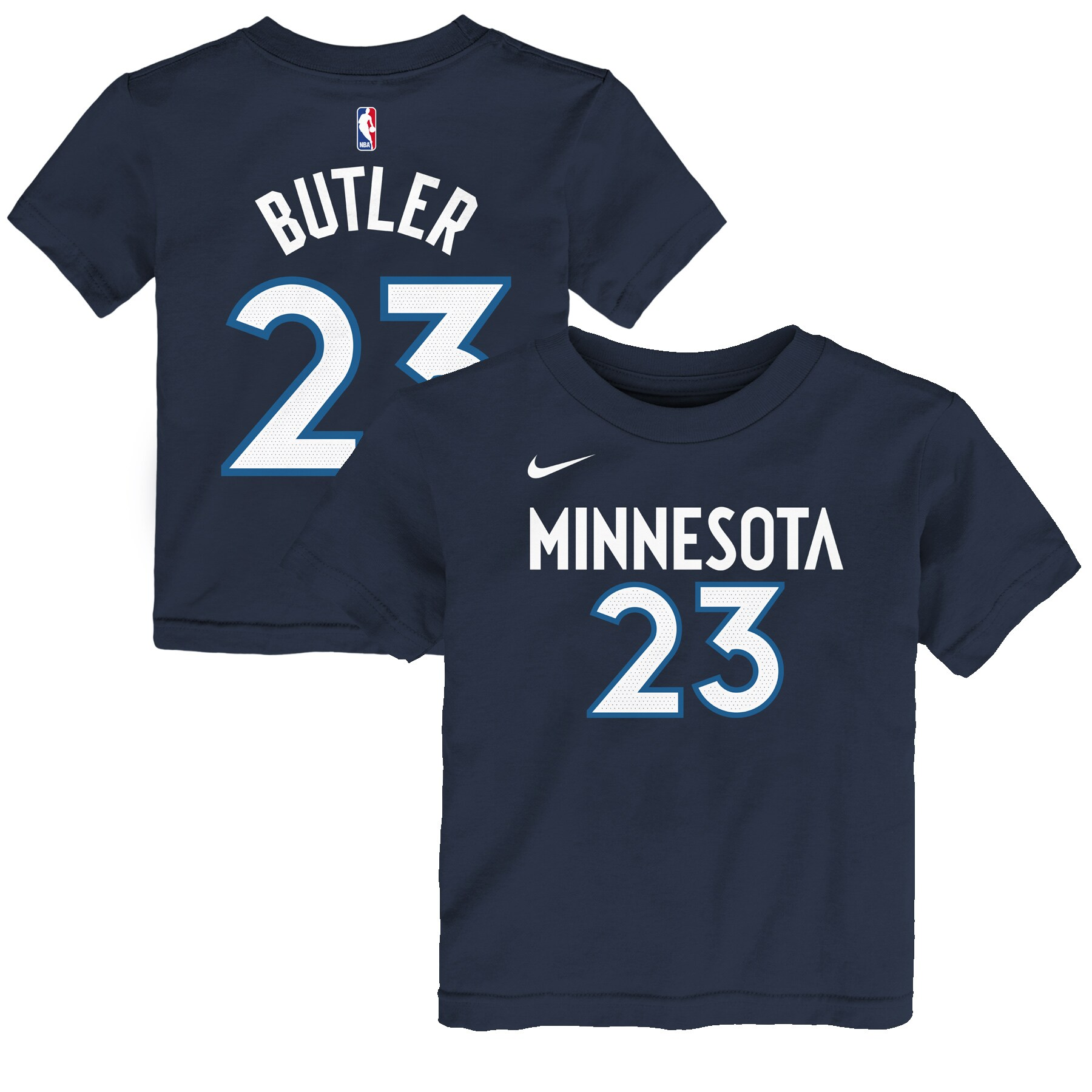Jimmy Butler Minnesota Timberwolves Nike Toddler Name & Number T-Shirt - Navy