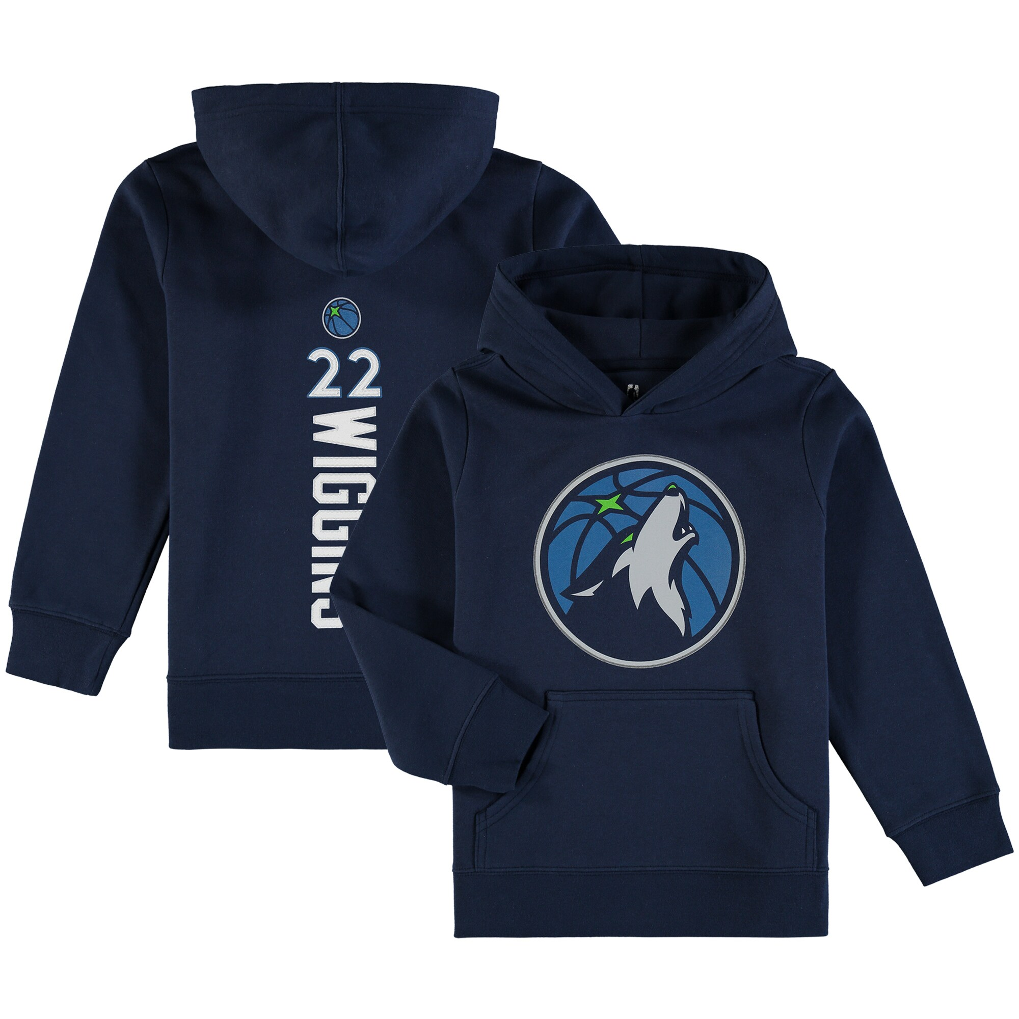 Andrew Wiggins Minnesota Timberwolves Fanatics Branded Youth Backer Name & Number Pullover Hoodie - Navy