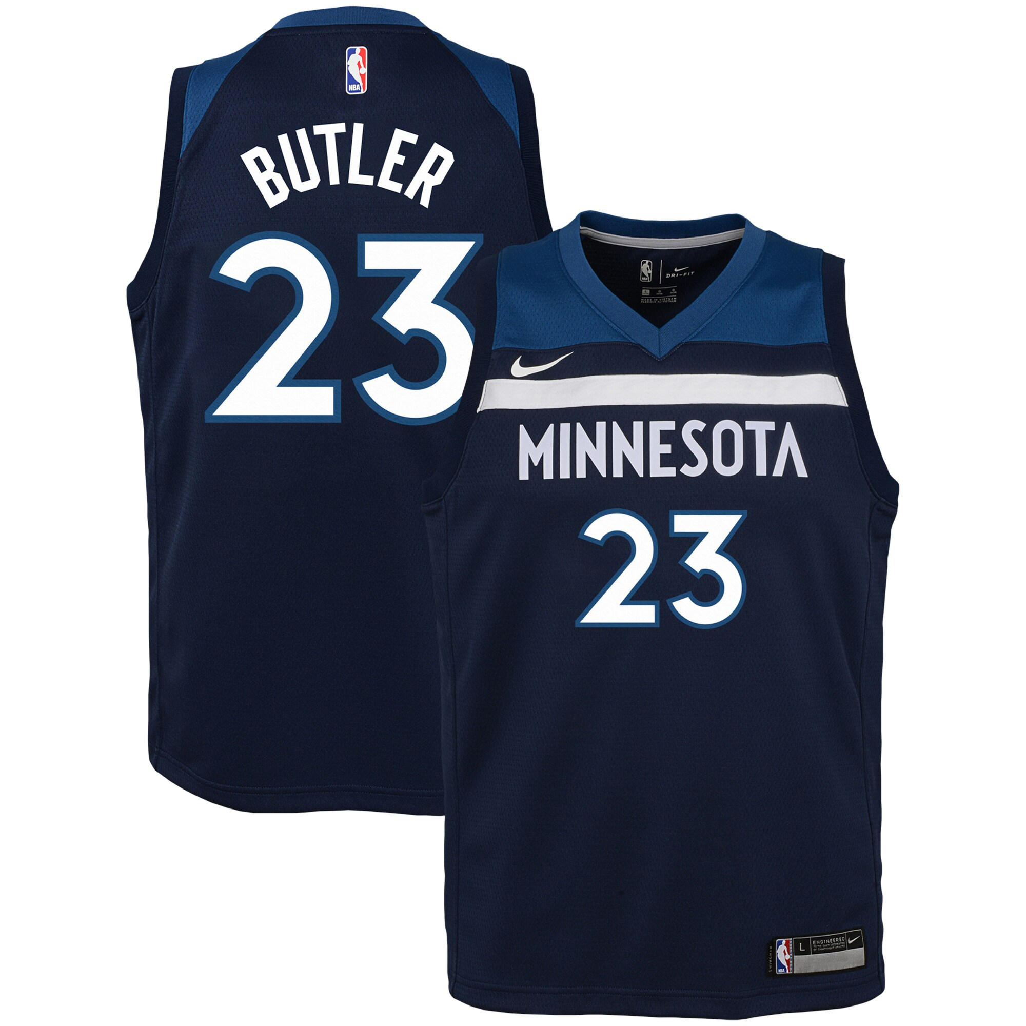 Jimmy Butler Minnesota Timberwolves Nike Youth Swingman Jersey Navy - Icon Edition