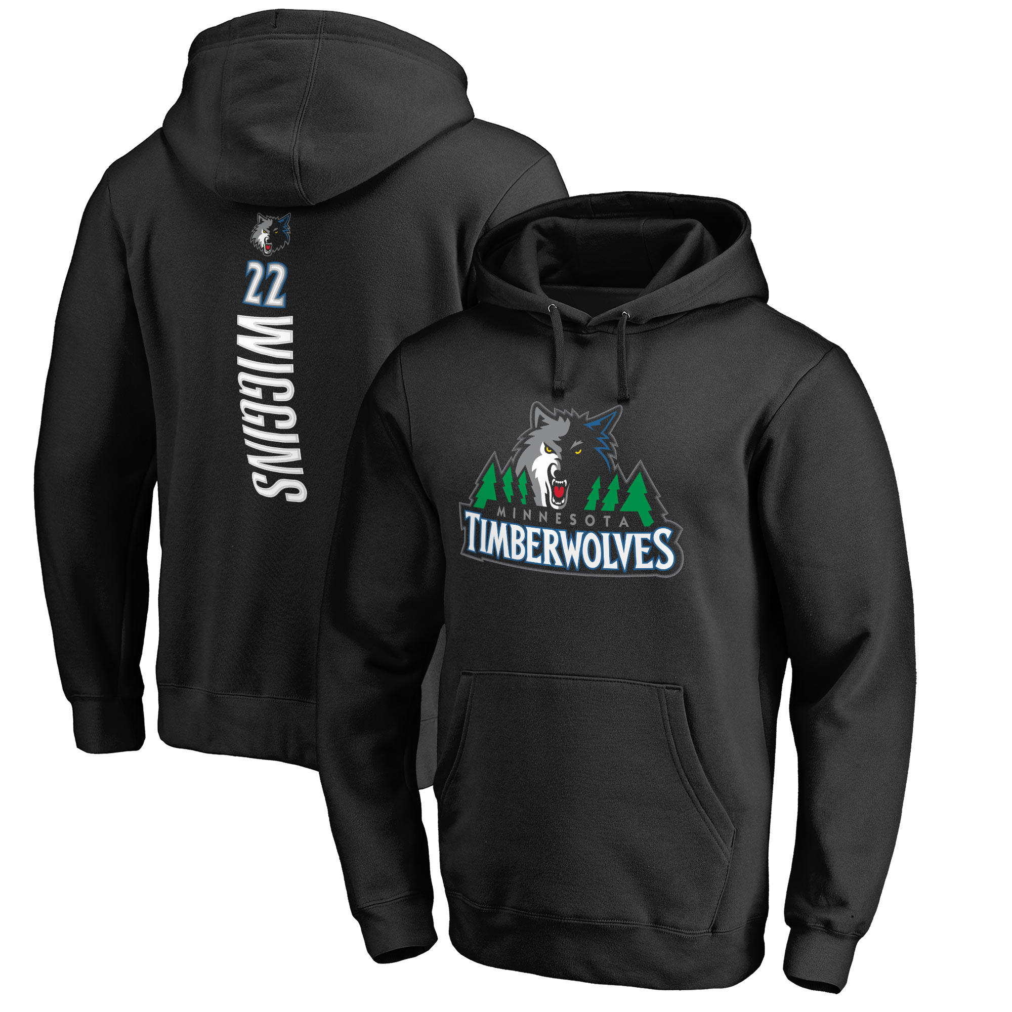 Andrew Wiggins Minnesota Timberwolves Fanatics Branded Backer 3 Pullover Hoodie - Black