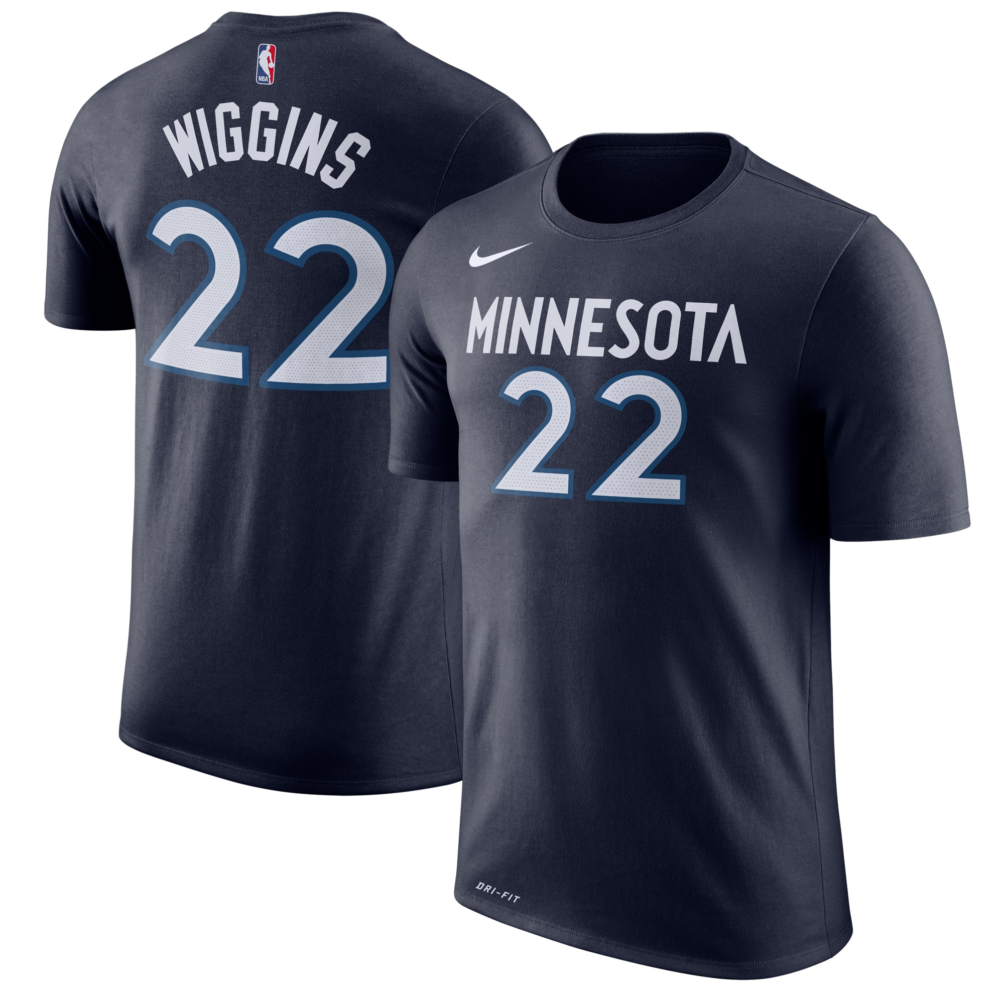 Andrew Wiggins Minnesota Timberwolves Nike Name & Number Performance T-Shirt - Blue