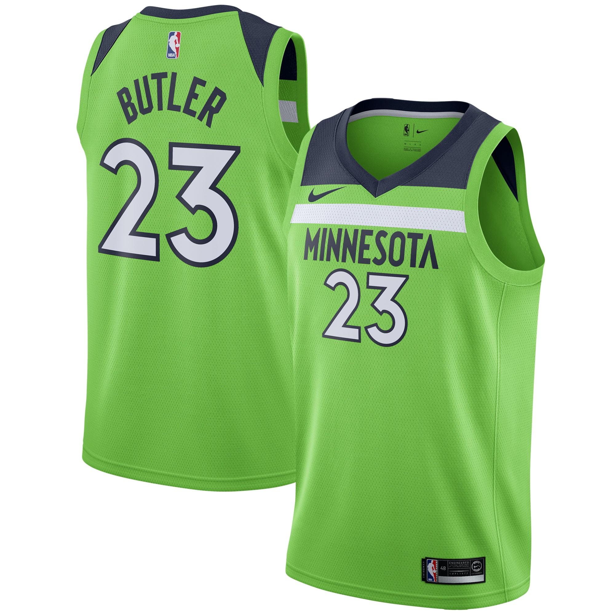Jimmy Butler Minnesota Timberwolves Nike Swingman Jersey - Statement Edition - Green