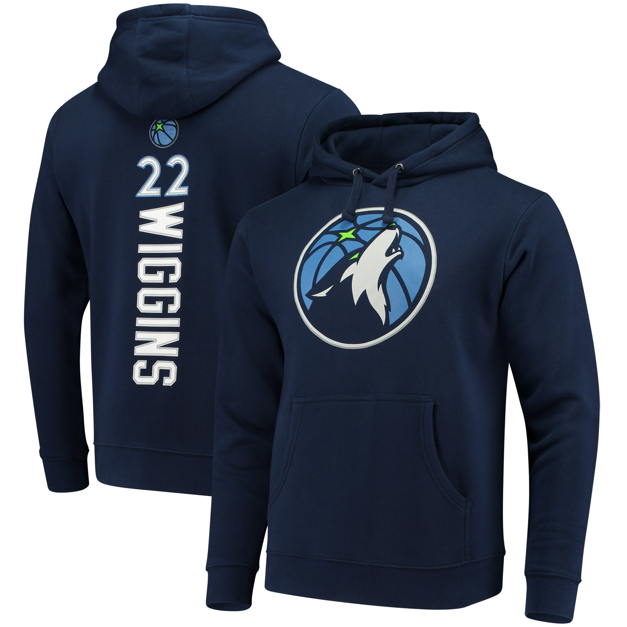Andrew Wiggins Minnesota Timberwolves Fanatics Branded Backer Name & Number Pullover Hoodie - Navy