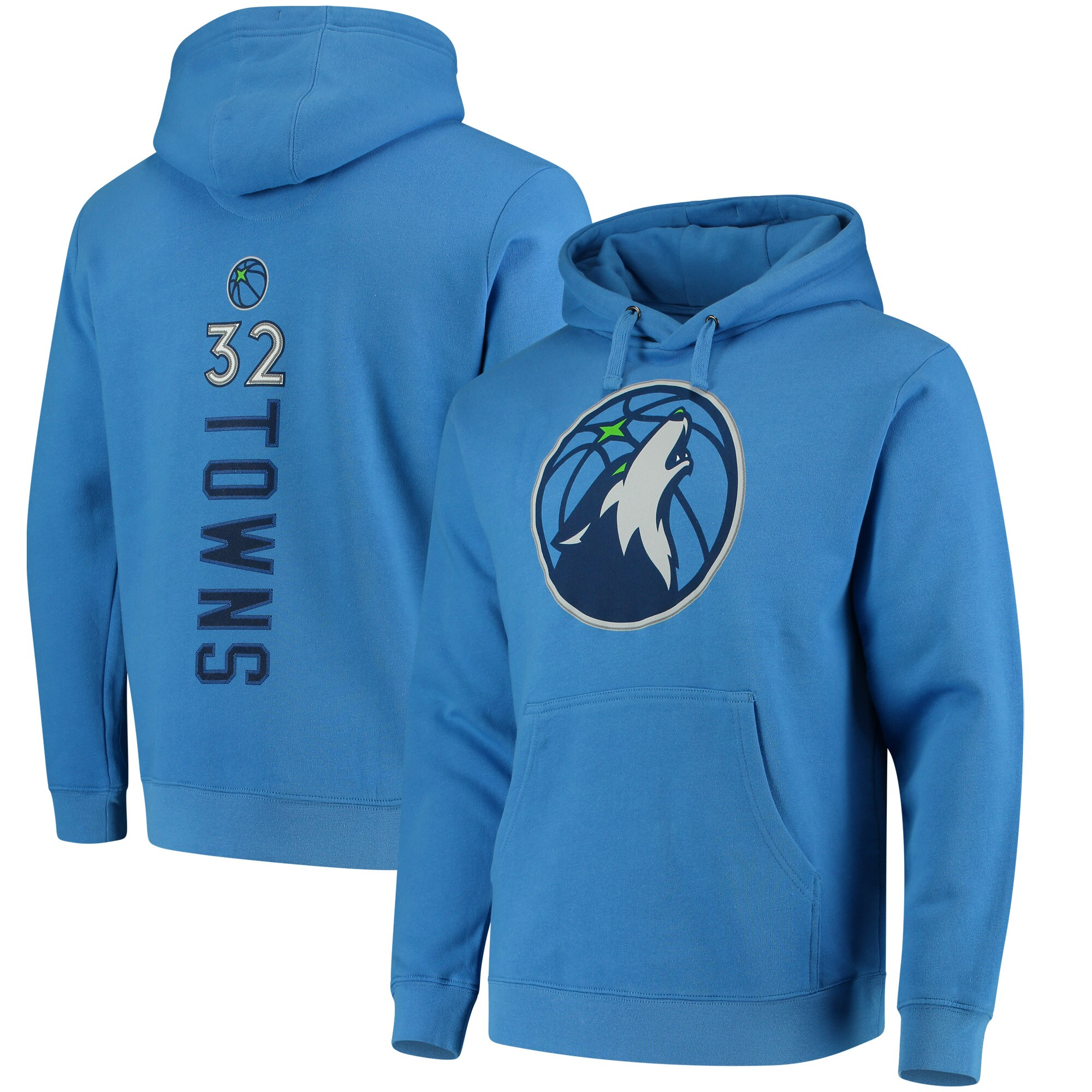 Karl-Anthony Towns Minnesota Timberwolves Fanatics Branded Backer Name & Number Pullover Hoodie - Blue