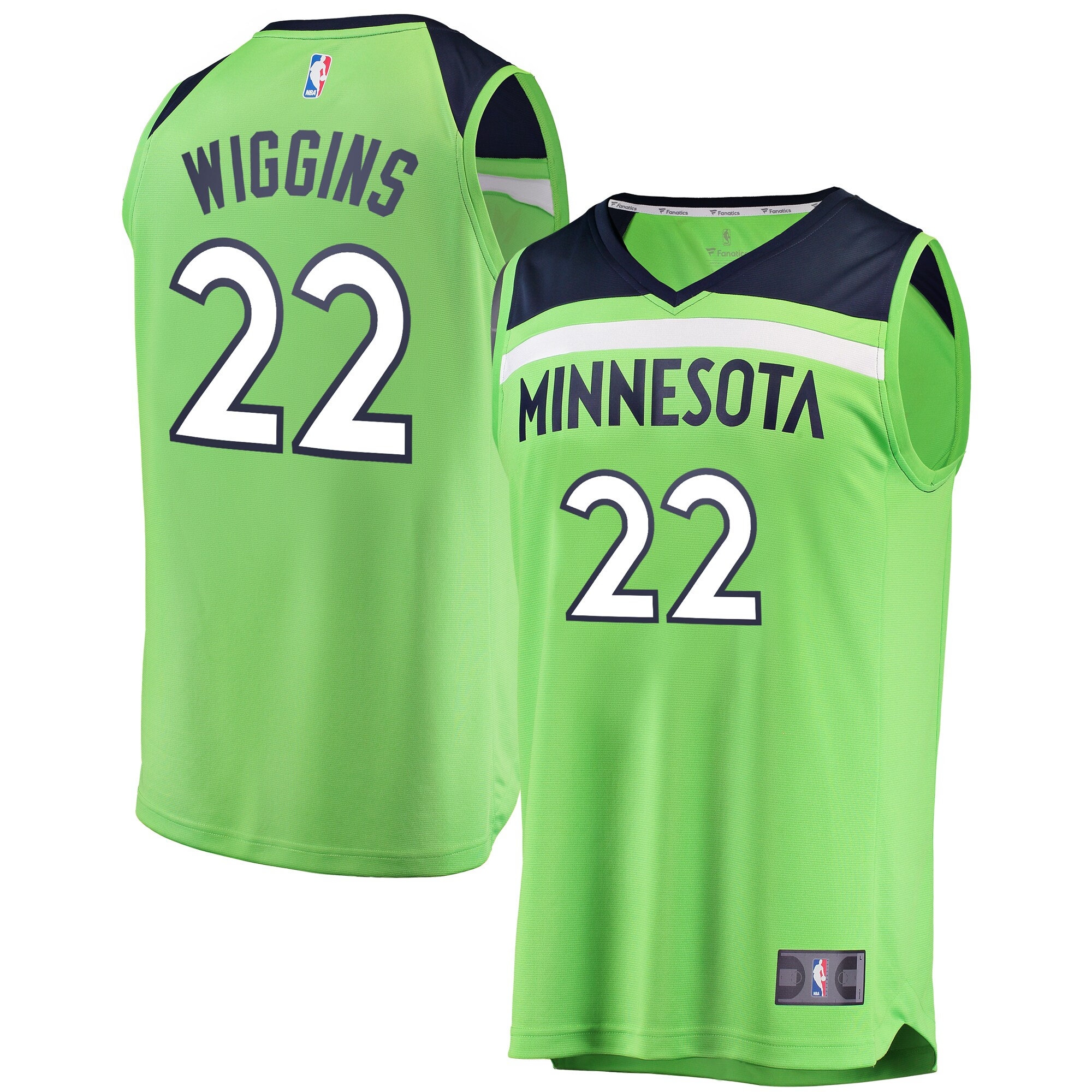Andrew Wiggins Minnesota Timberwolves Fanatics Branded Fast Break Replica Jersey Neon Green - Statement Edition