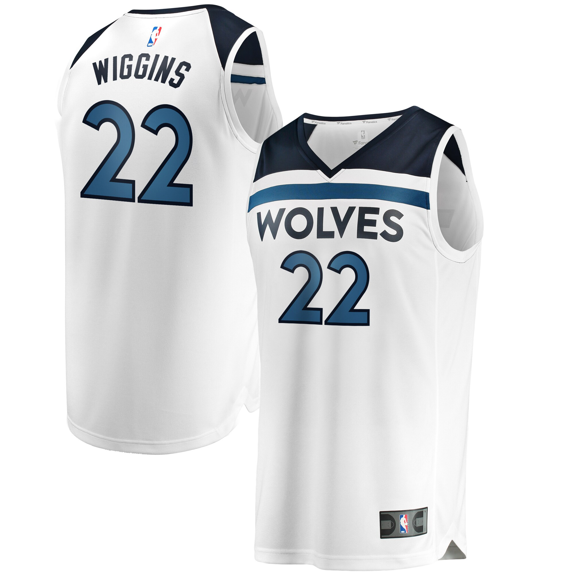 Andrew Wiggins Minnesota Timberwolves Fanatics Branded Fast Break Replica Jersey White - Association Edition